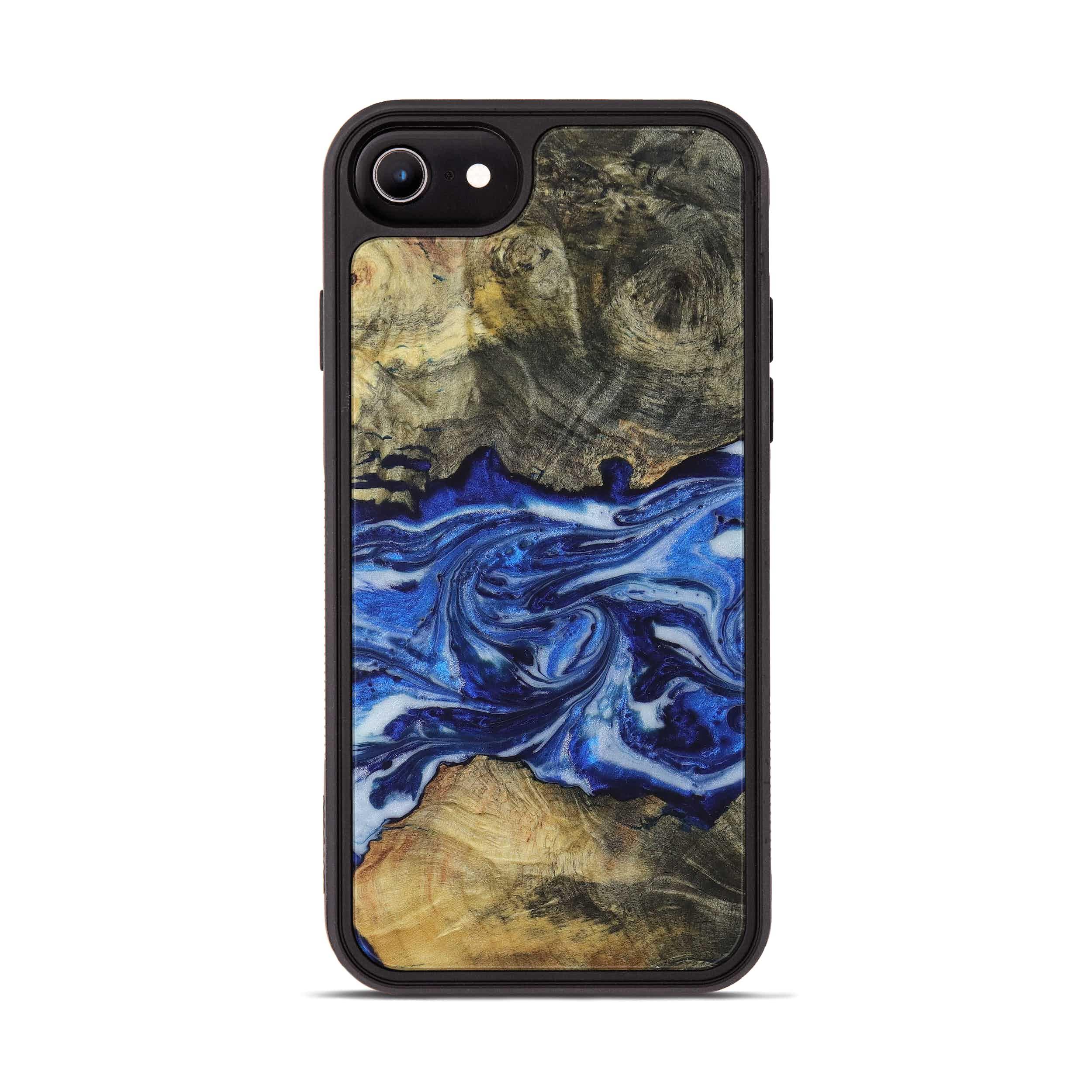 iPhone 6s Wood+Resin Phone Case - Karil (Dark Blue, 396096)
