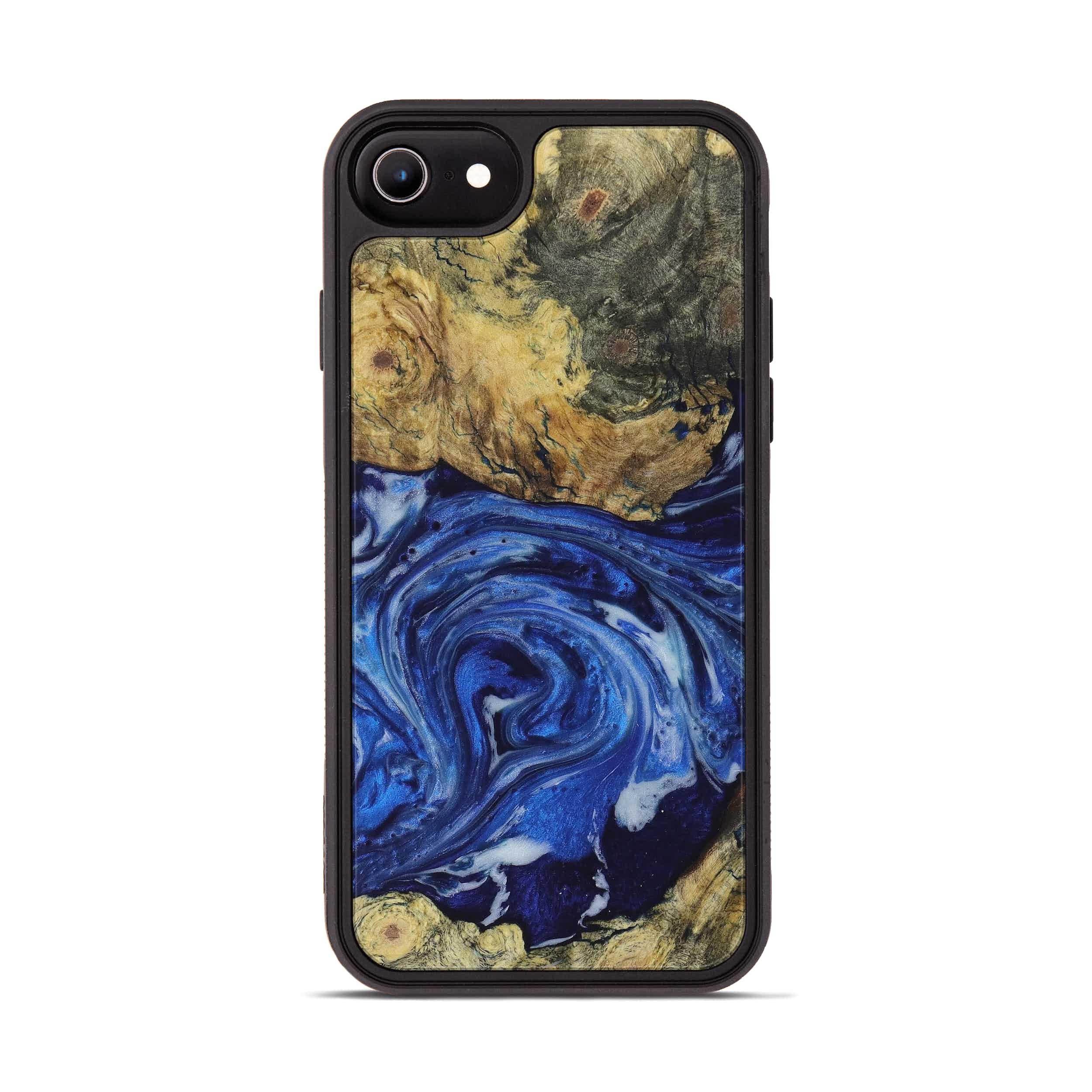 iPhone 6s Wood+Resin Phone Case - Shahid (Dark Blue, 396097)