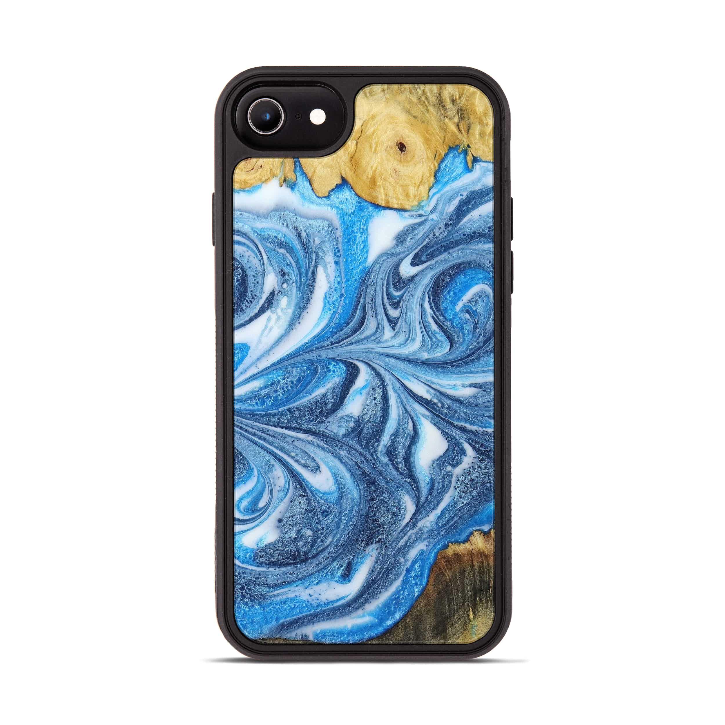 iPhone 6s Wood+Resin Phone Case - Avinash (Light Blue, 396120)
