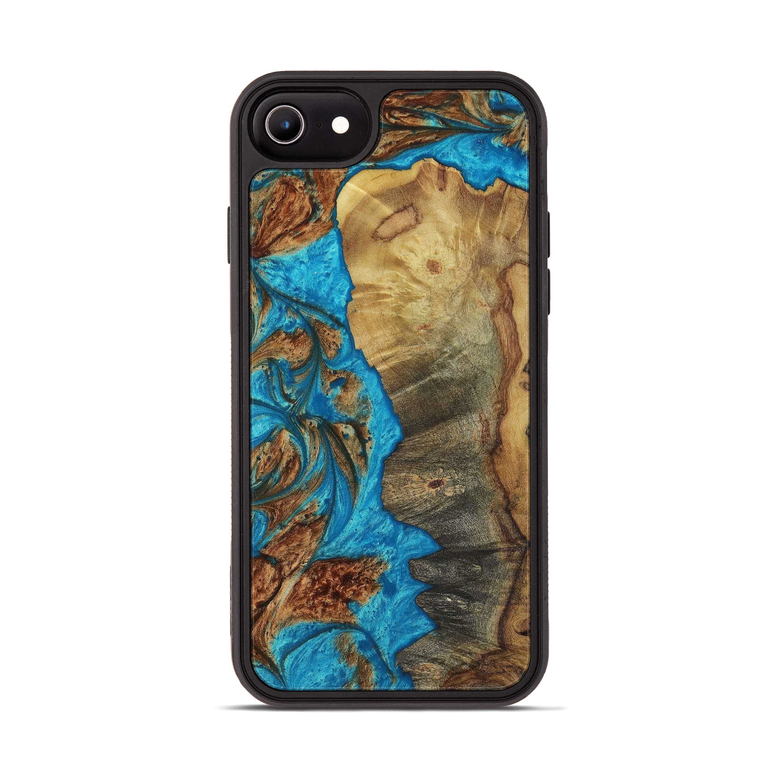 iPhone 6s Wood+Resin Phone Case - Desmond (Teal & Gold, 397221)