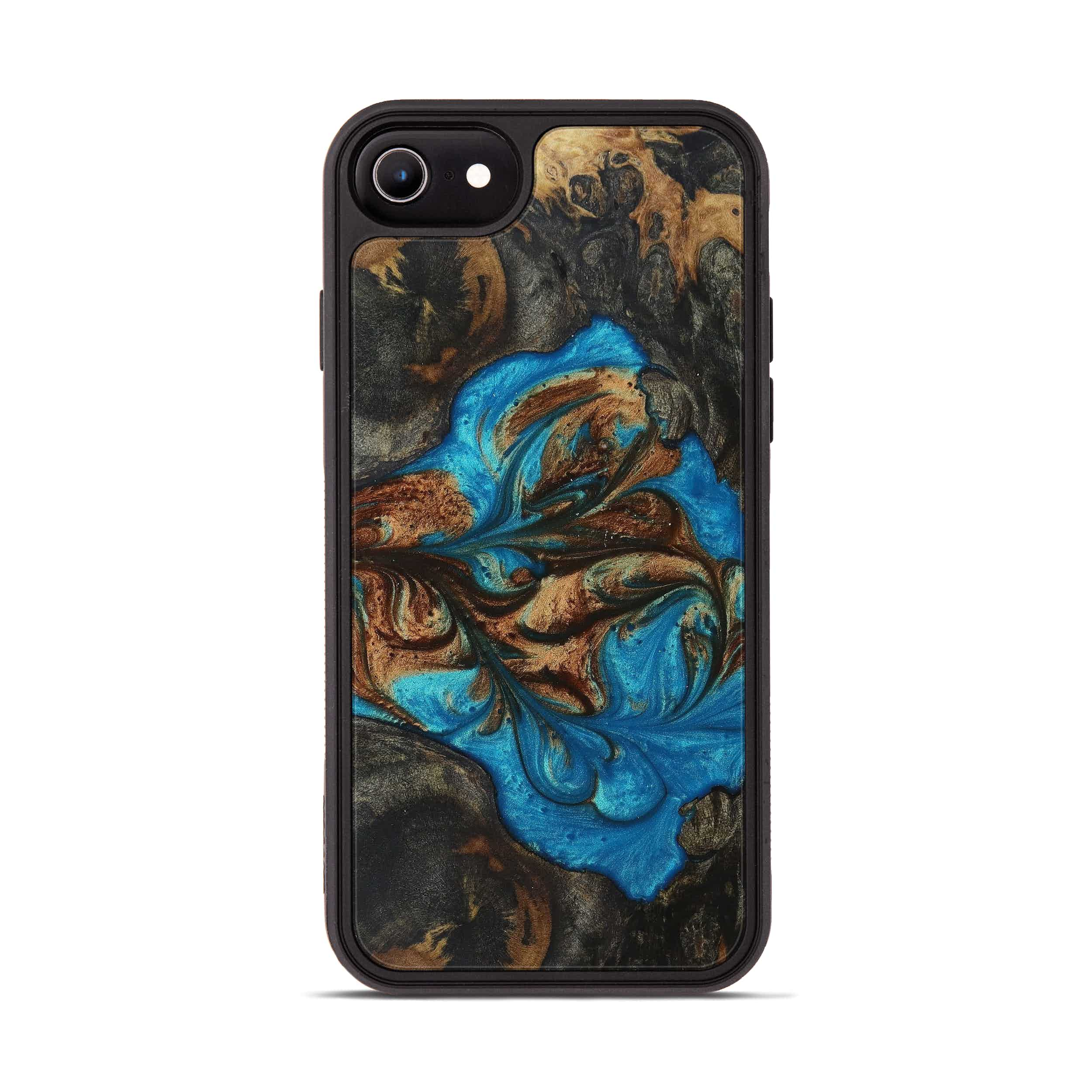 iPhone 6s Wood+Resin Phone Case - Viera (Teal & Gold, 397222)