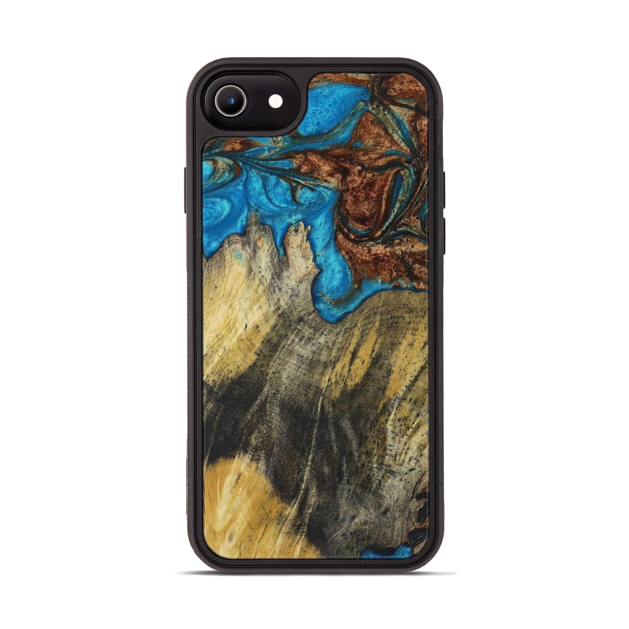 iPhone 6s Wood+Resin Phone Case - Sukhendu (Teal & Gold, 397224)
