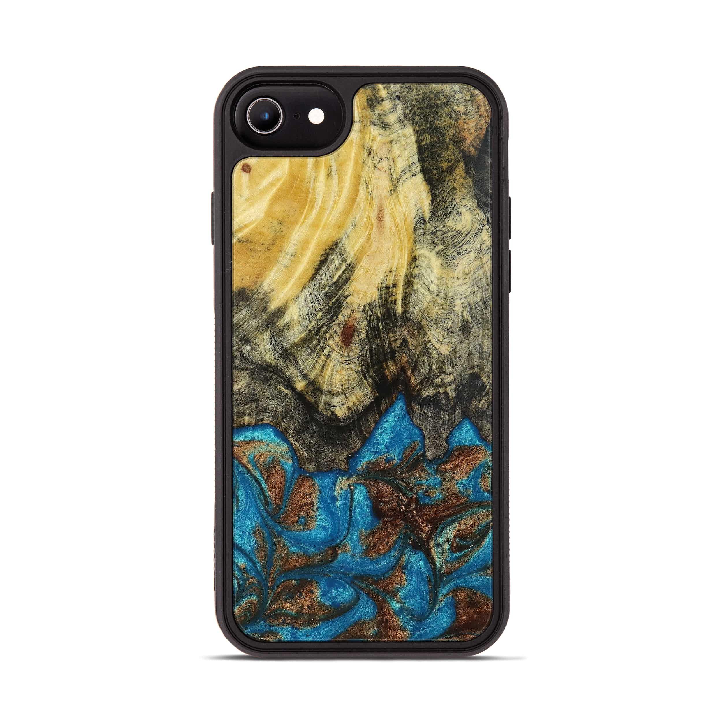 iPhone 6s Wood+Resin Phone Case - Kassie (Teal & Gold, 397227)