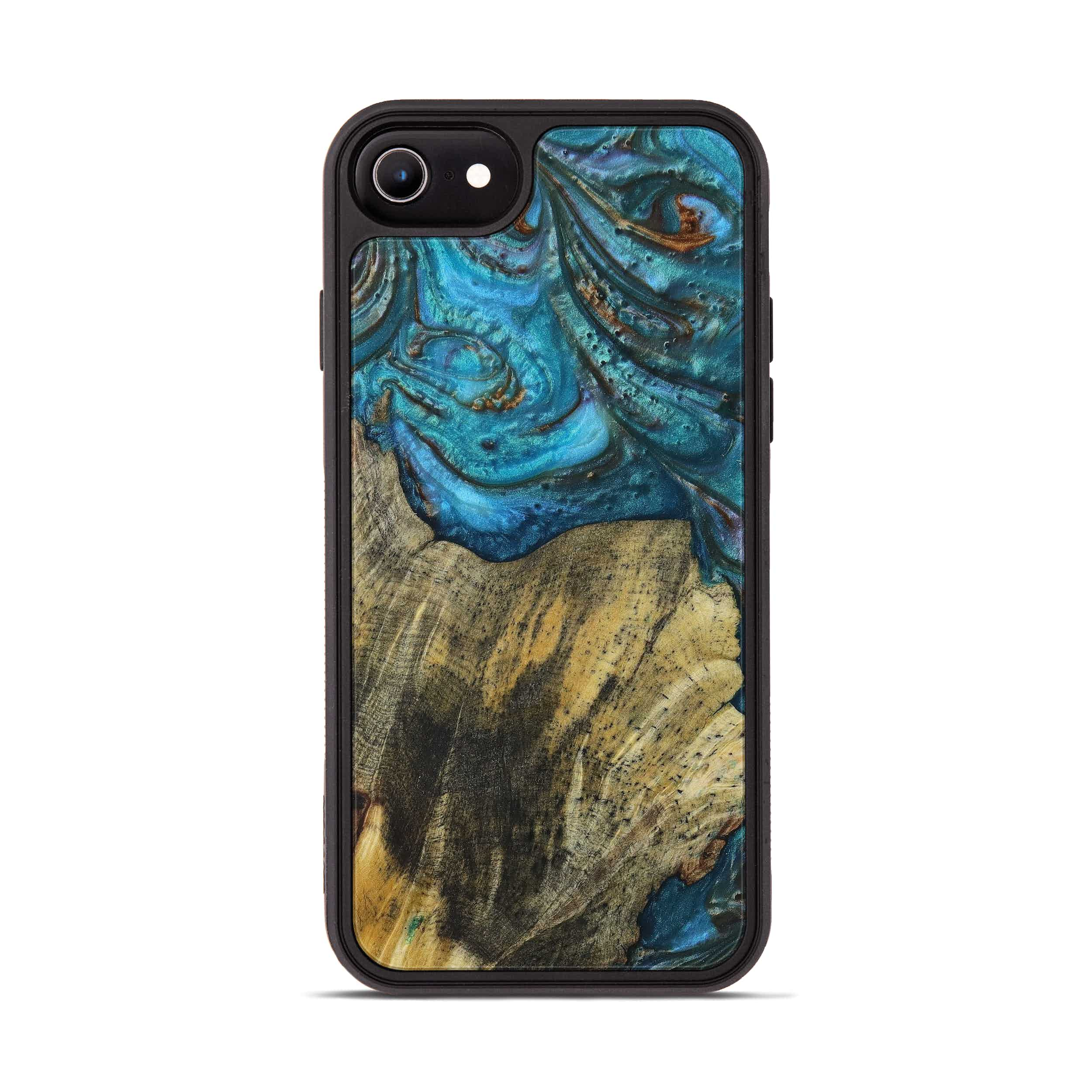 iPhone 6s Wood+Resin Phone Case - Maier (Teal & Gold, 397265)