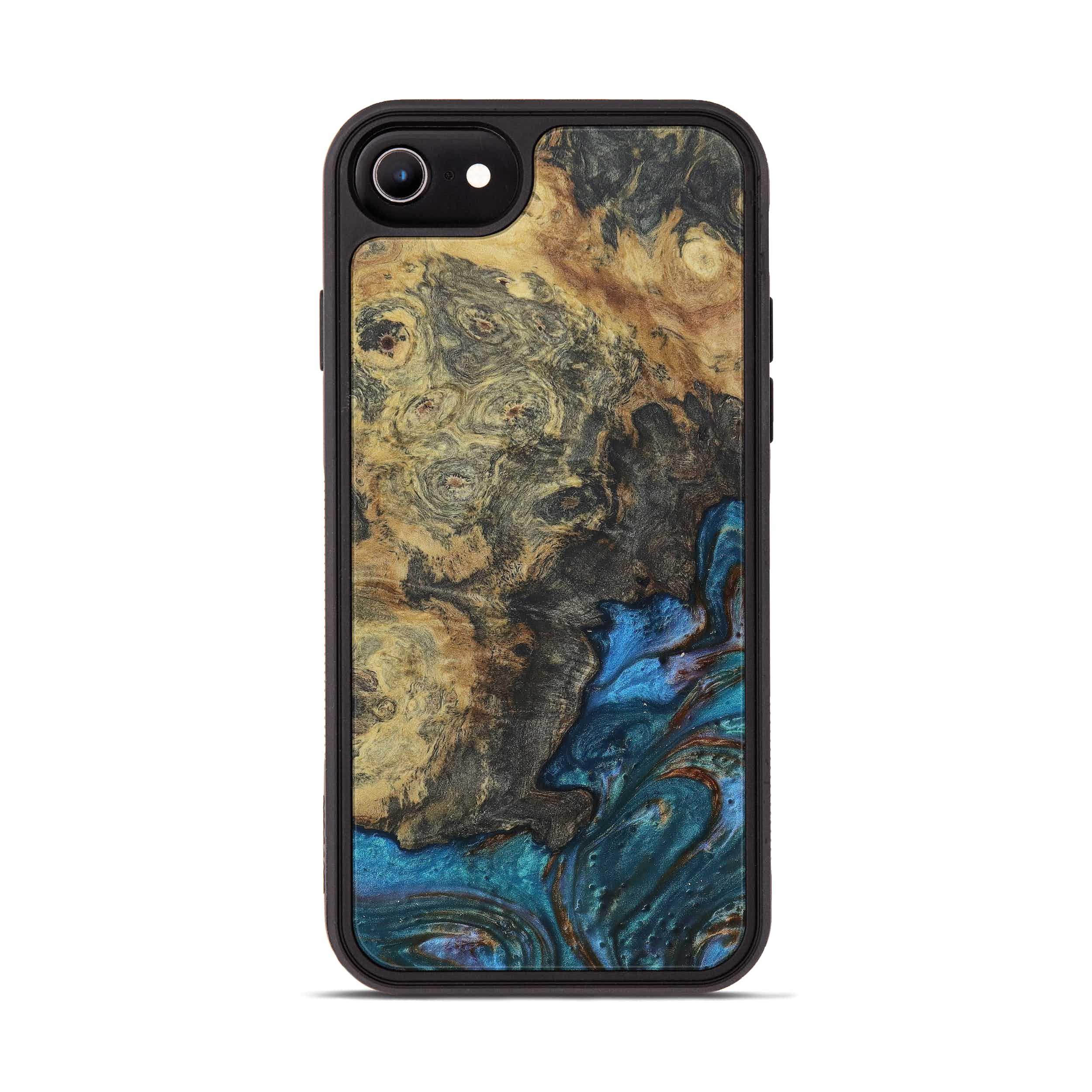 iPhone 6s Wood+Resin Phone Case - Trescha (Teal & Gold, 397266)