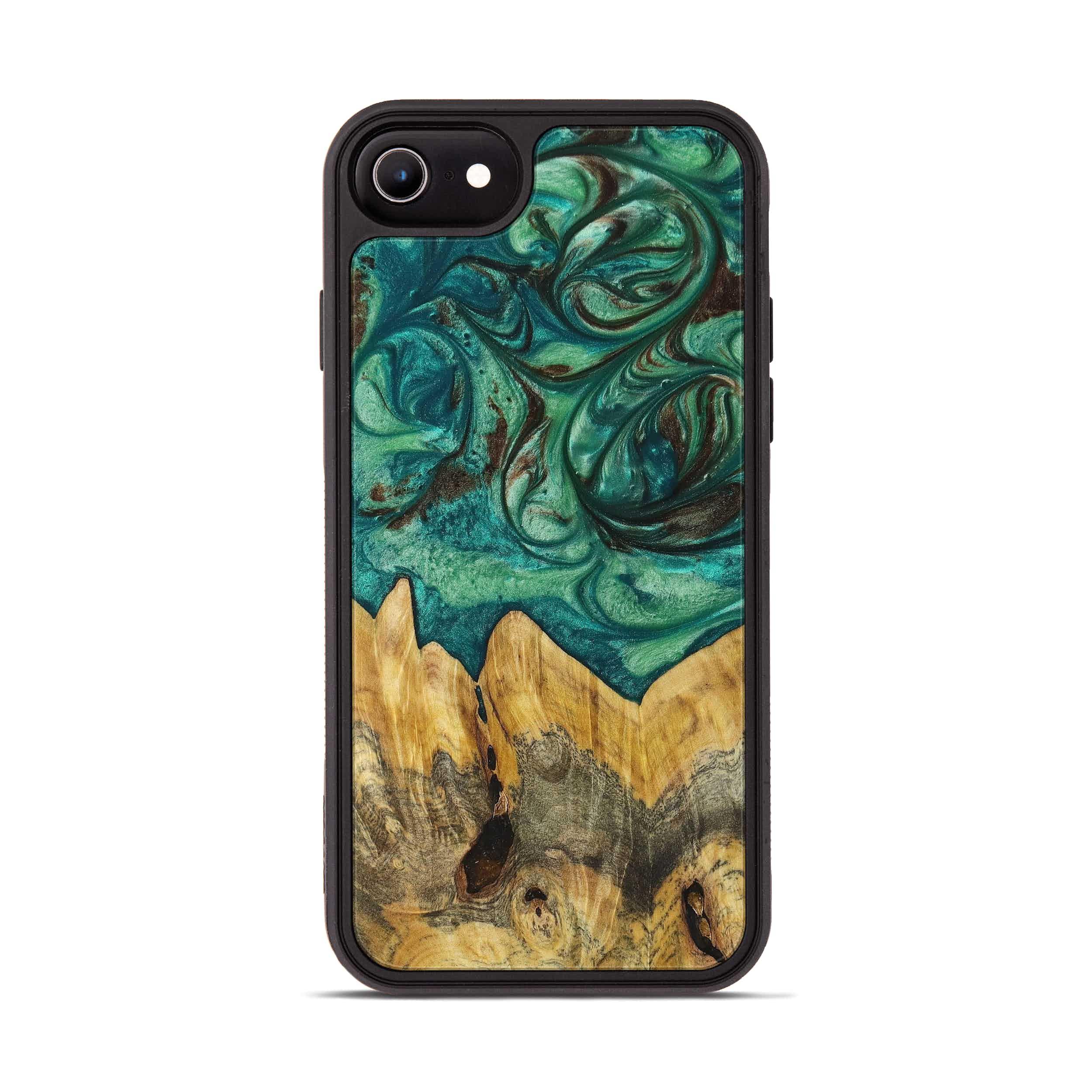 iPhone 6s Wood+Resin Phone Case - Ivory (Dark Green, 397769)