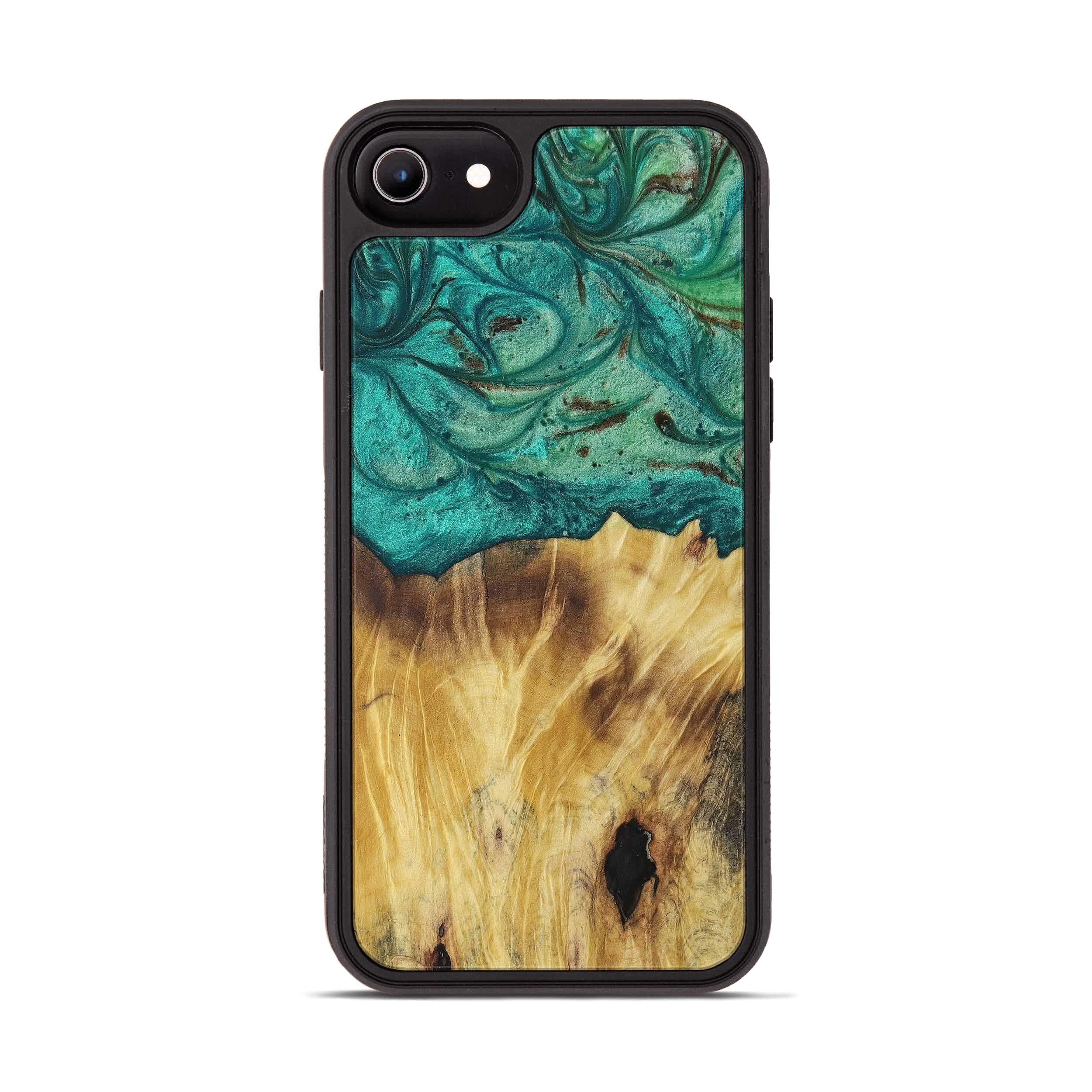 iPhone 6s Wood+Resin Phone Case - Tom (Dark Green, 397789)