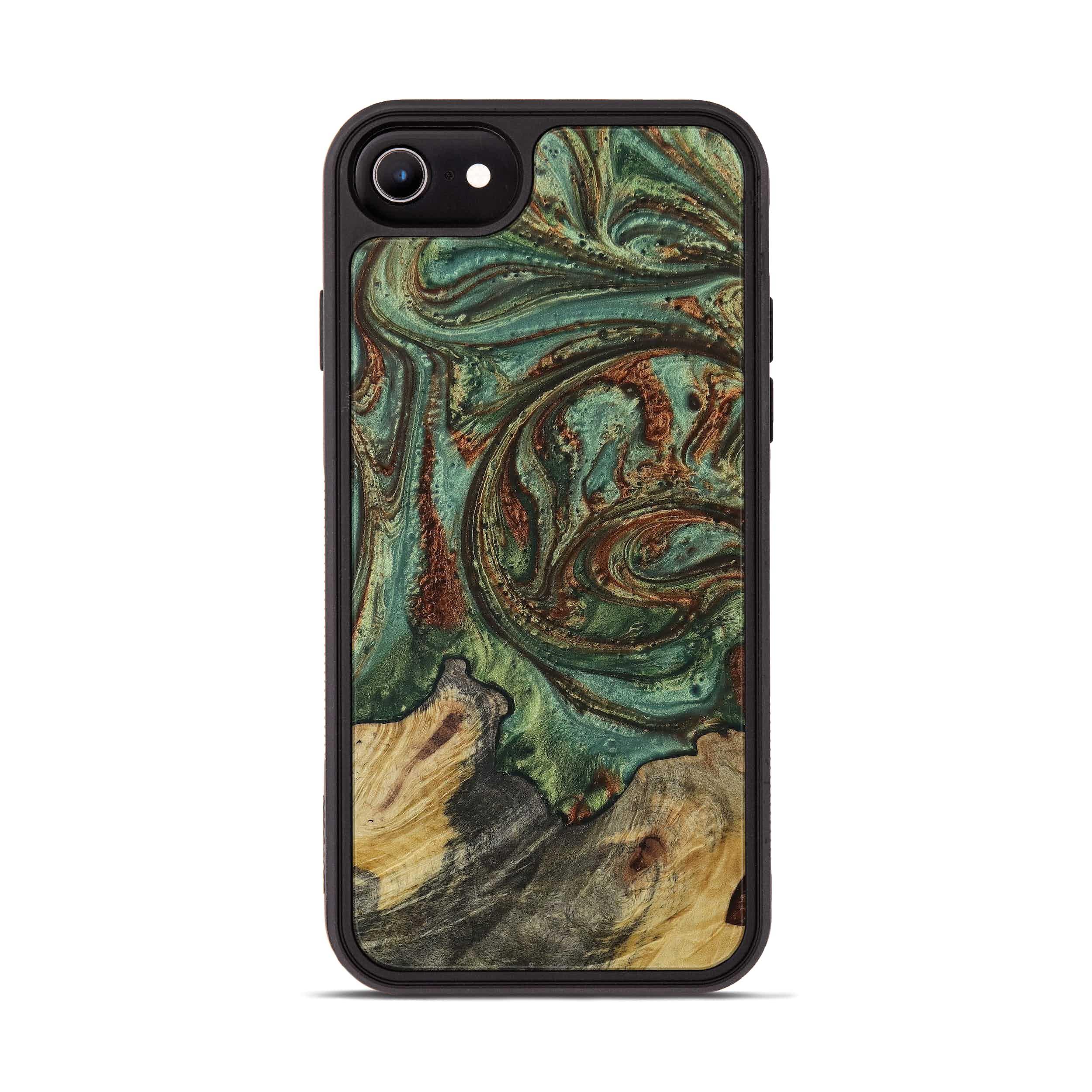 iPhone 6s Wood+Resin Phone Case - Reyna (Dark Green, 397860)