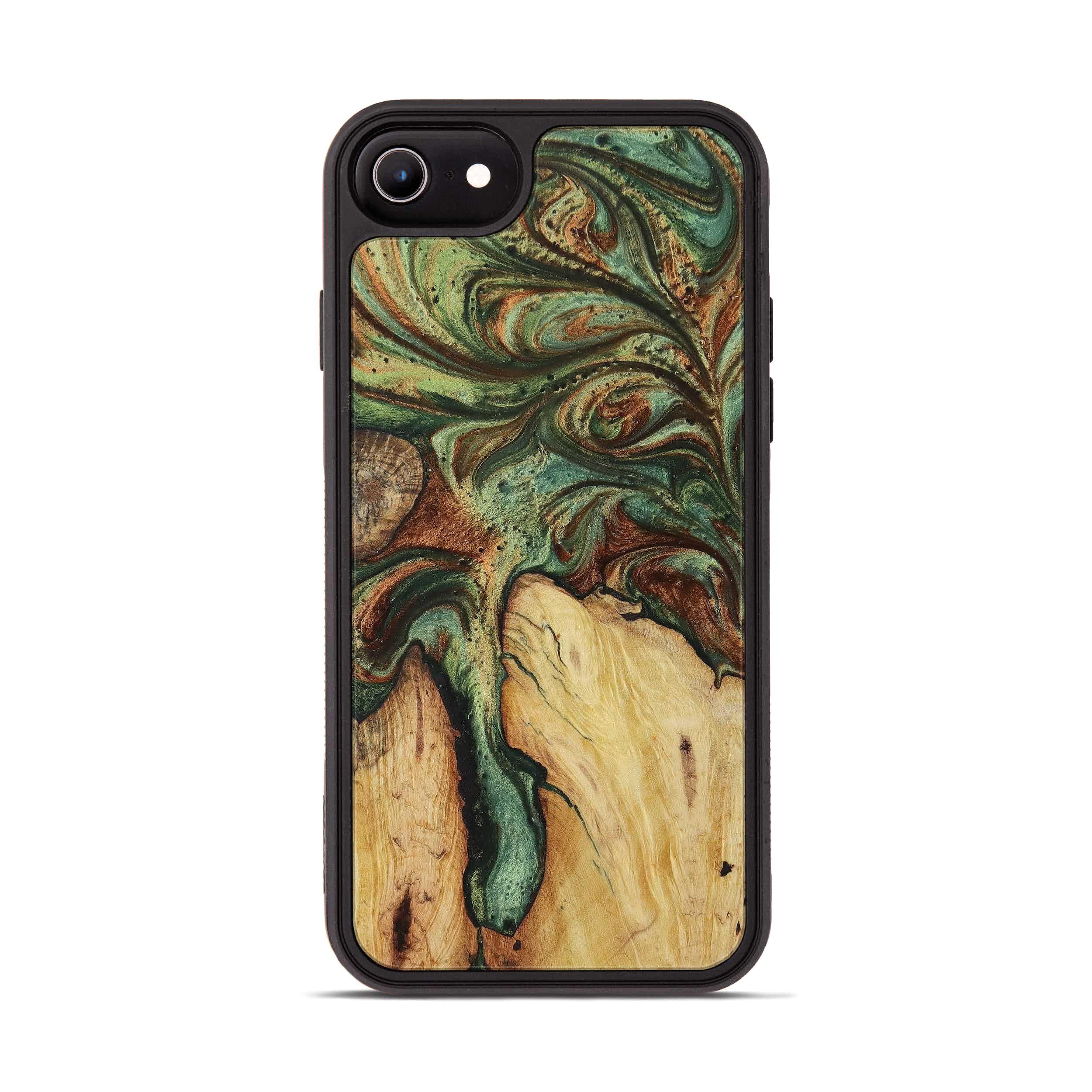 iPhone 6s Wood+Resin Phone Case - Charmain (Dark Green, 397861)