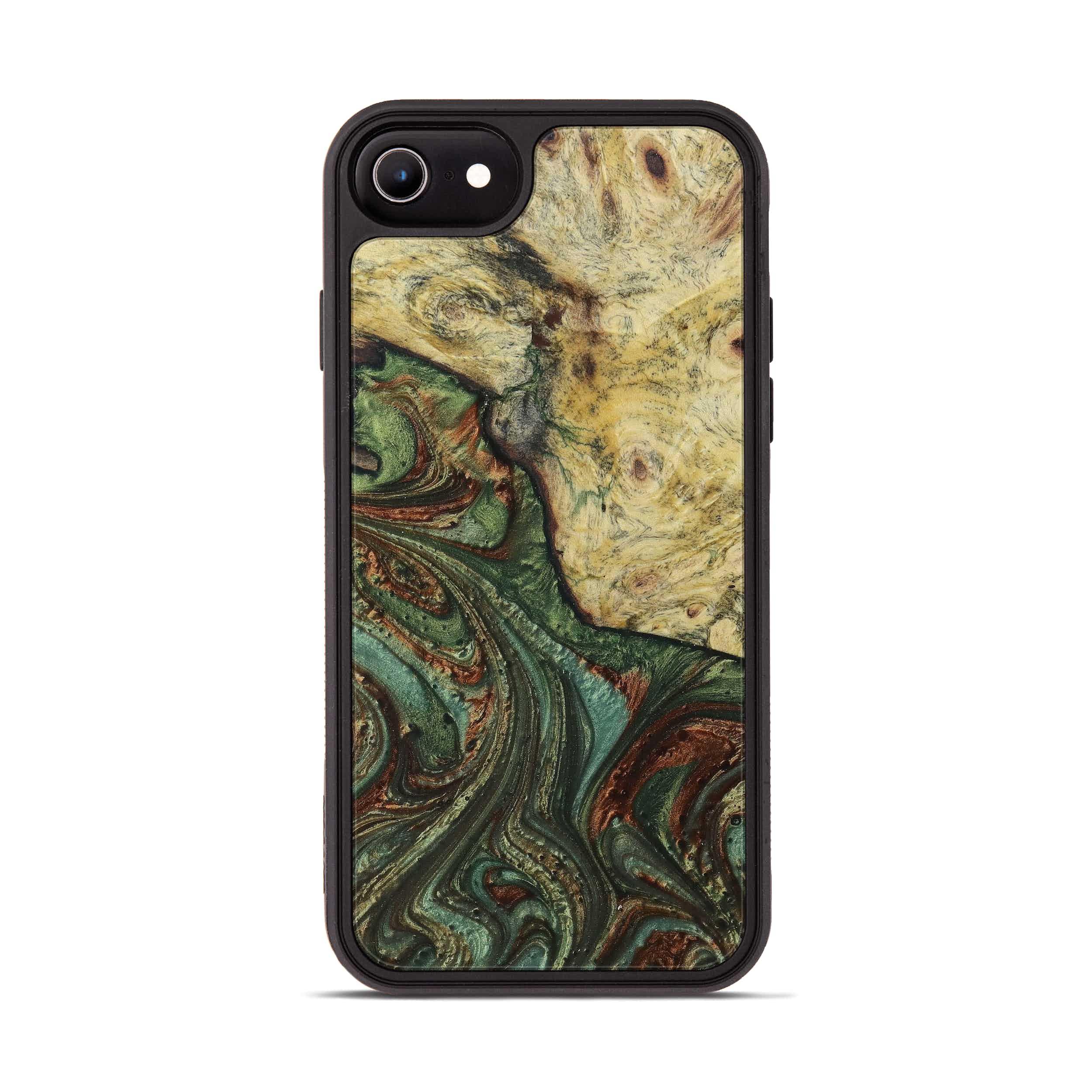 iPhone 6s Wood+Resin Phone Case - Elhamy (Dark Green, 397865)