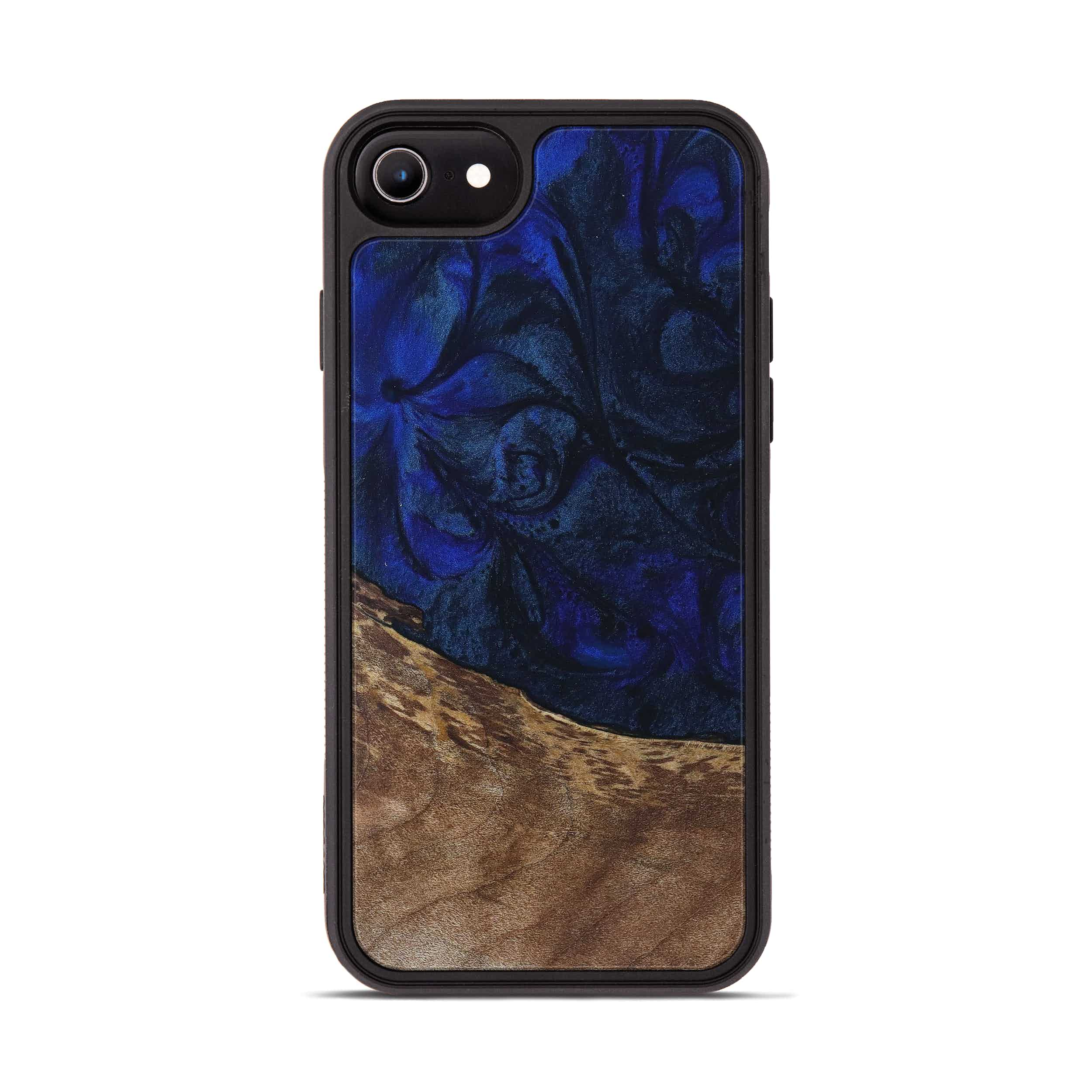 iPhone 6s Wood+Resin Phone Case - Xavier (Dark Blue, 397877)