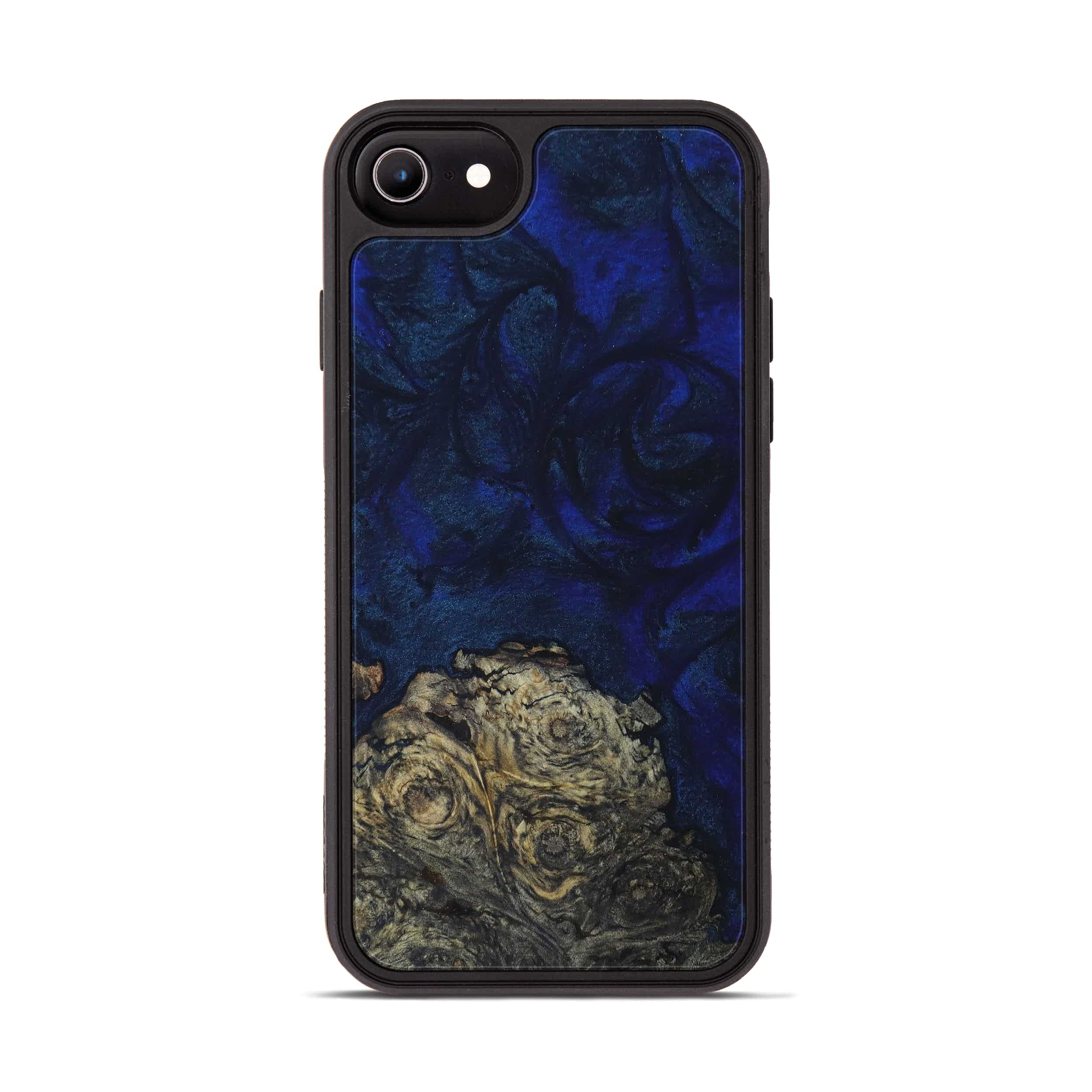 iPhone 6s Wood+Resin Phone Case - Leigha (Dark Blue, 397886)