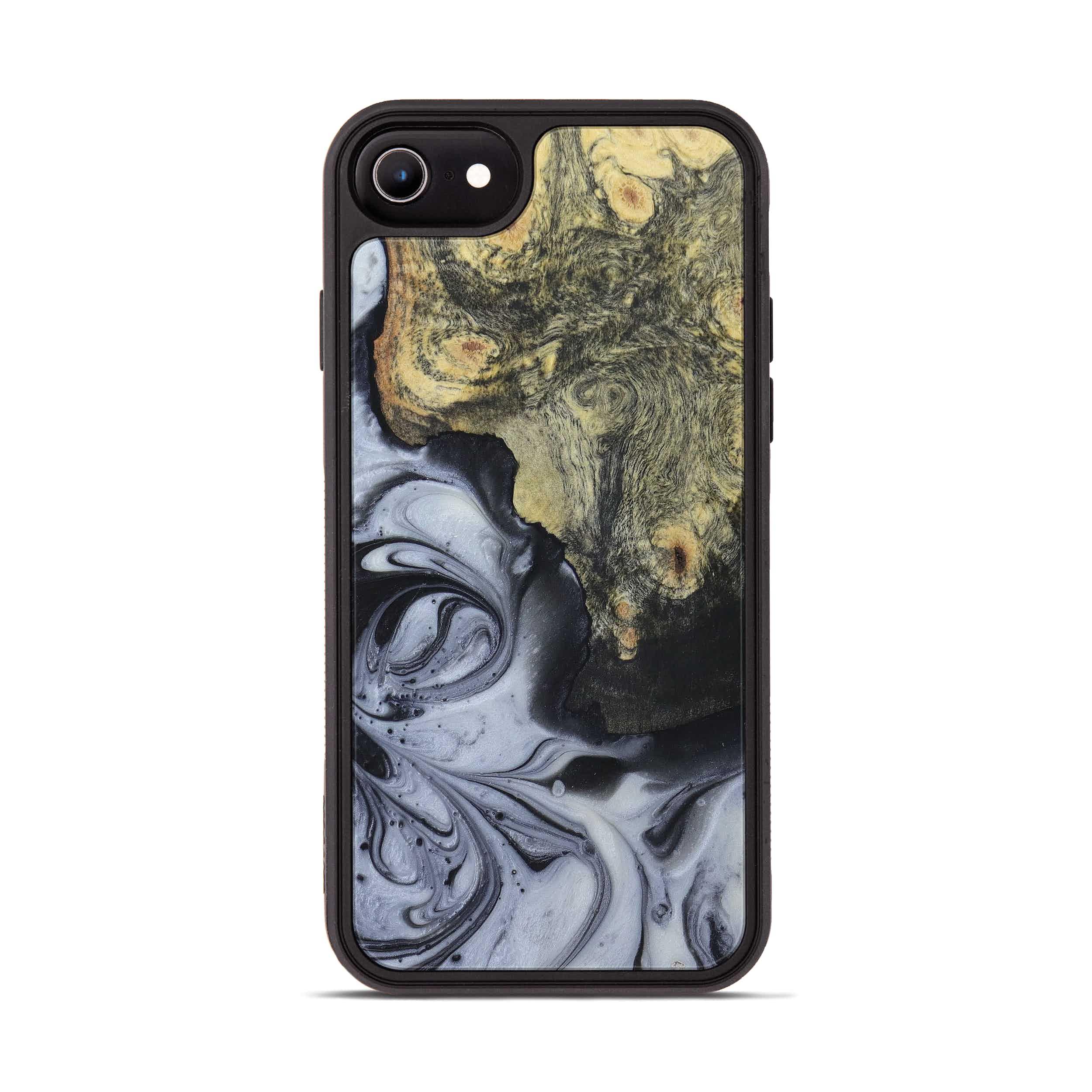 iPhone 6s Wood+Resin Phone Case - Rhonda (Black & White, 397914)