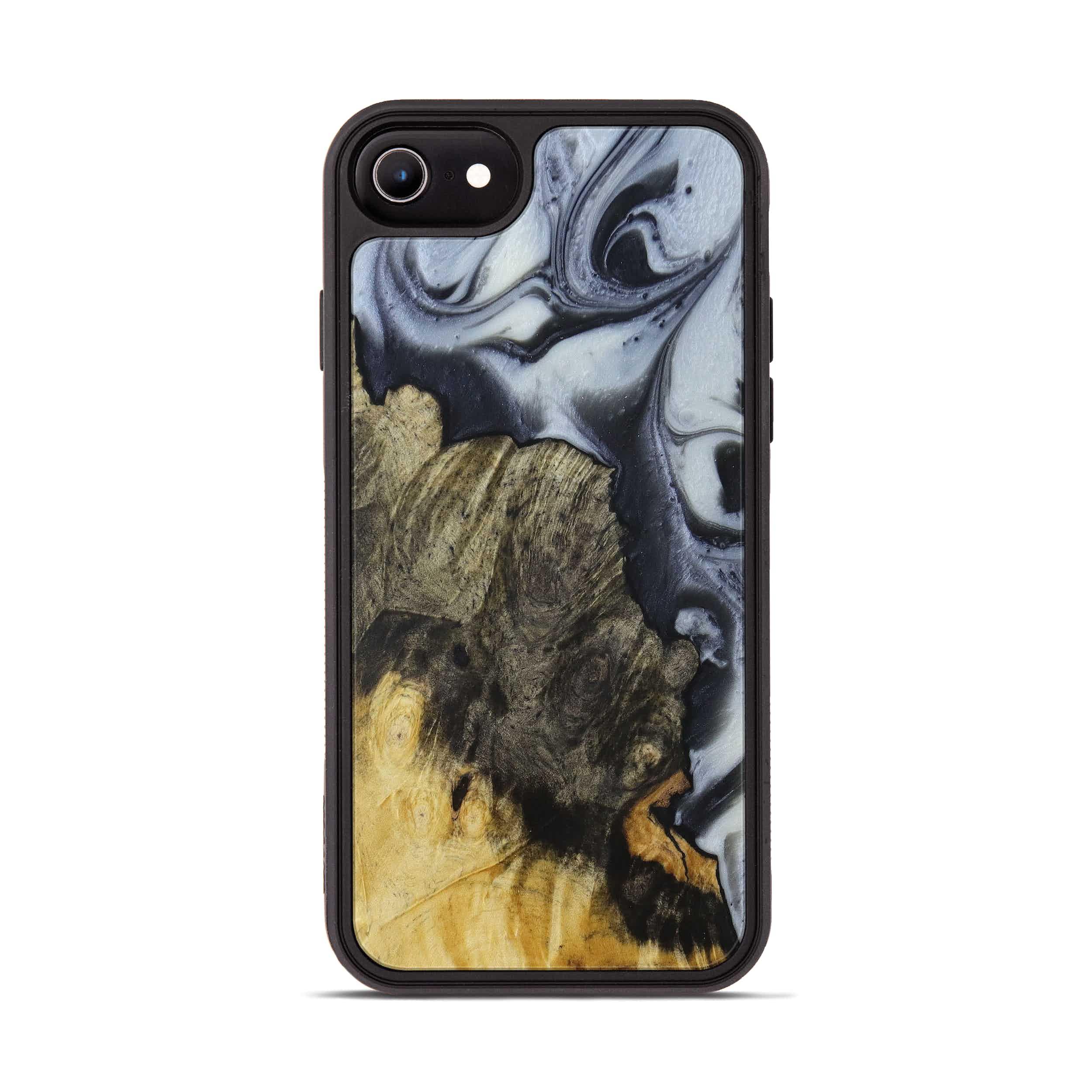 iPhone 6s Wood+Resin Phone Case - Marisa (Black & White, 397918)