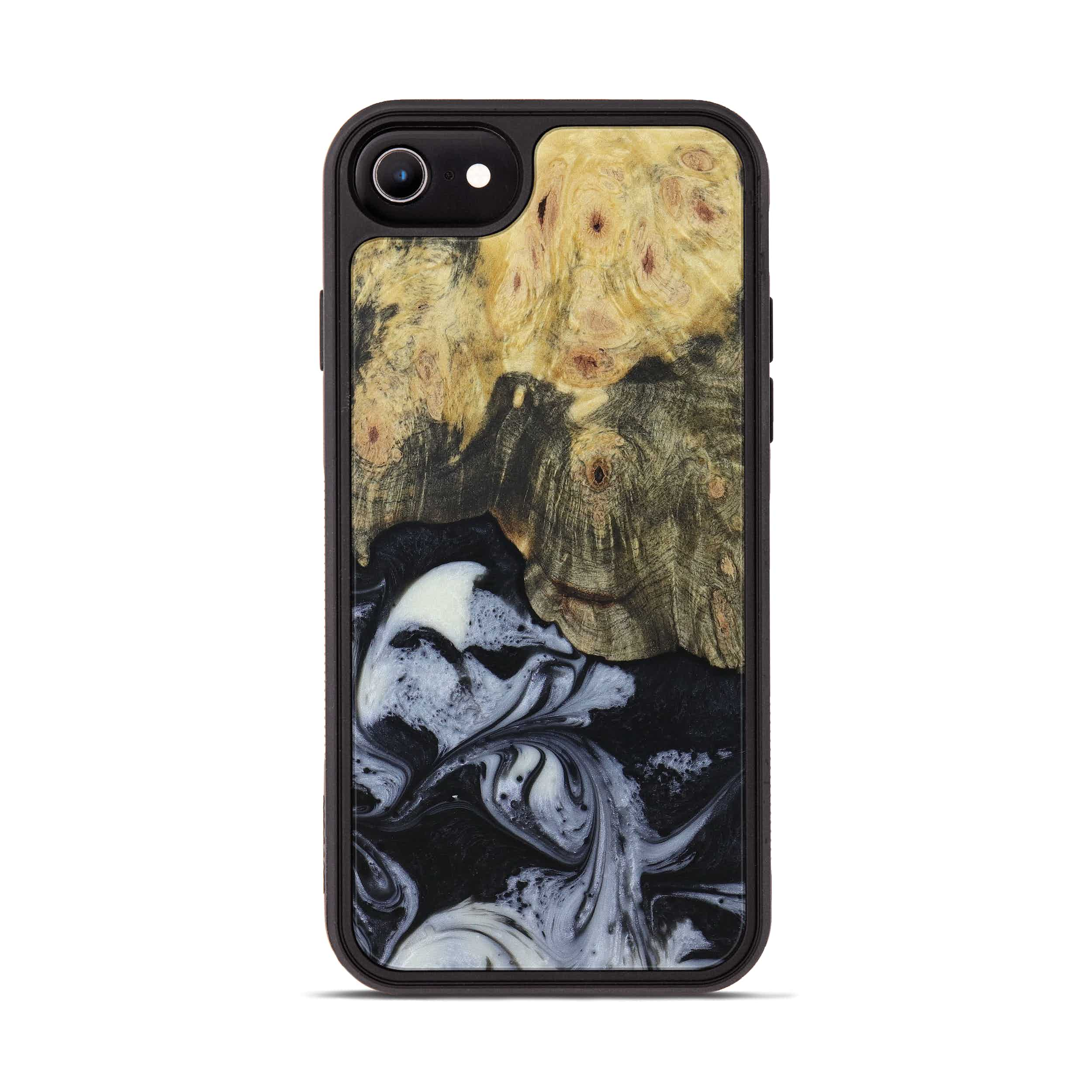 iPhone 6s Wood+Resin Phone Case - Rosalinda (Black & White, 397919)