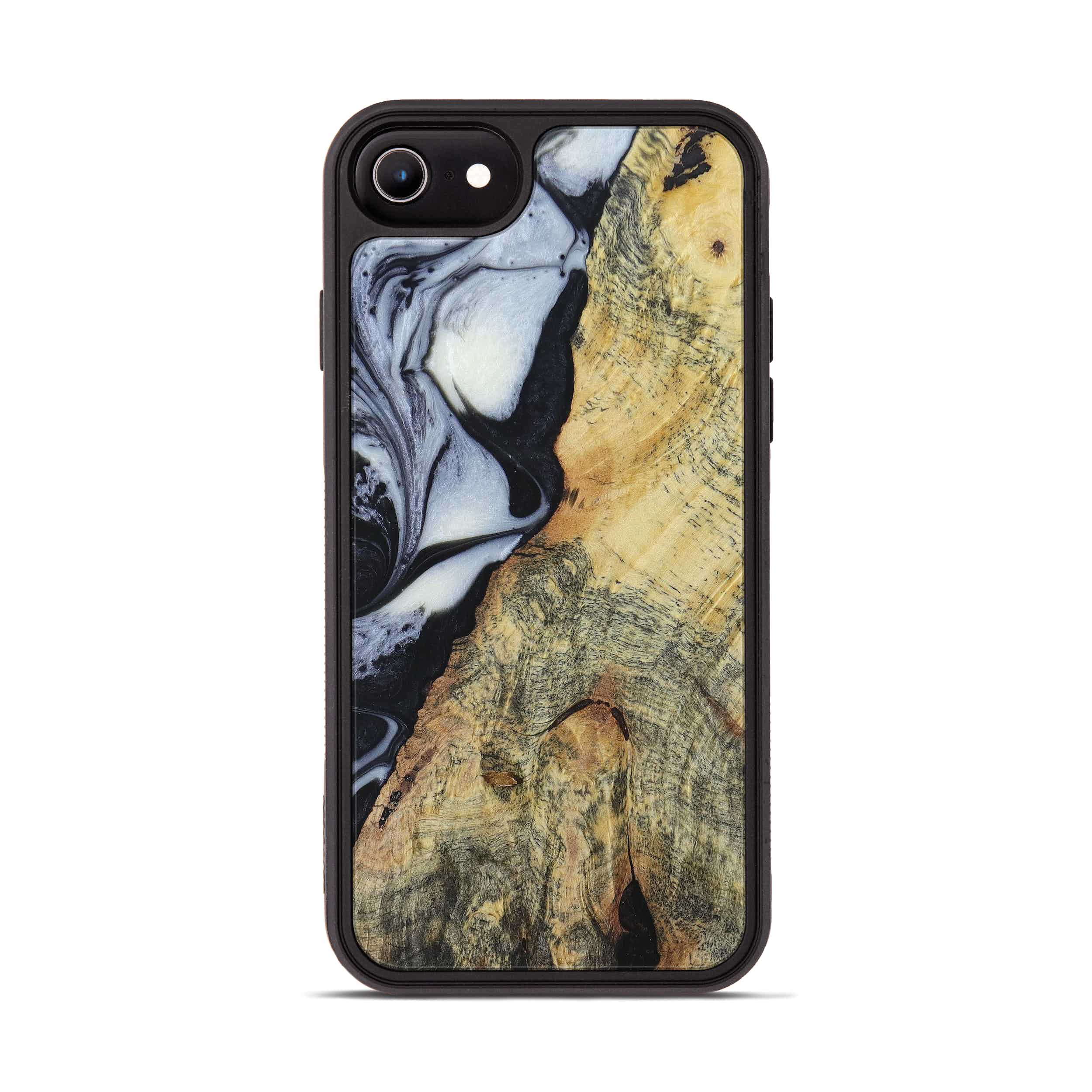 iPhone 6s Wood+Resin Phone Case - Buford (Black & White, 397920)