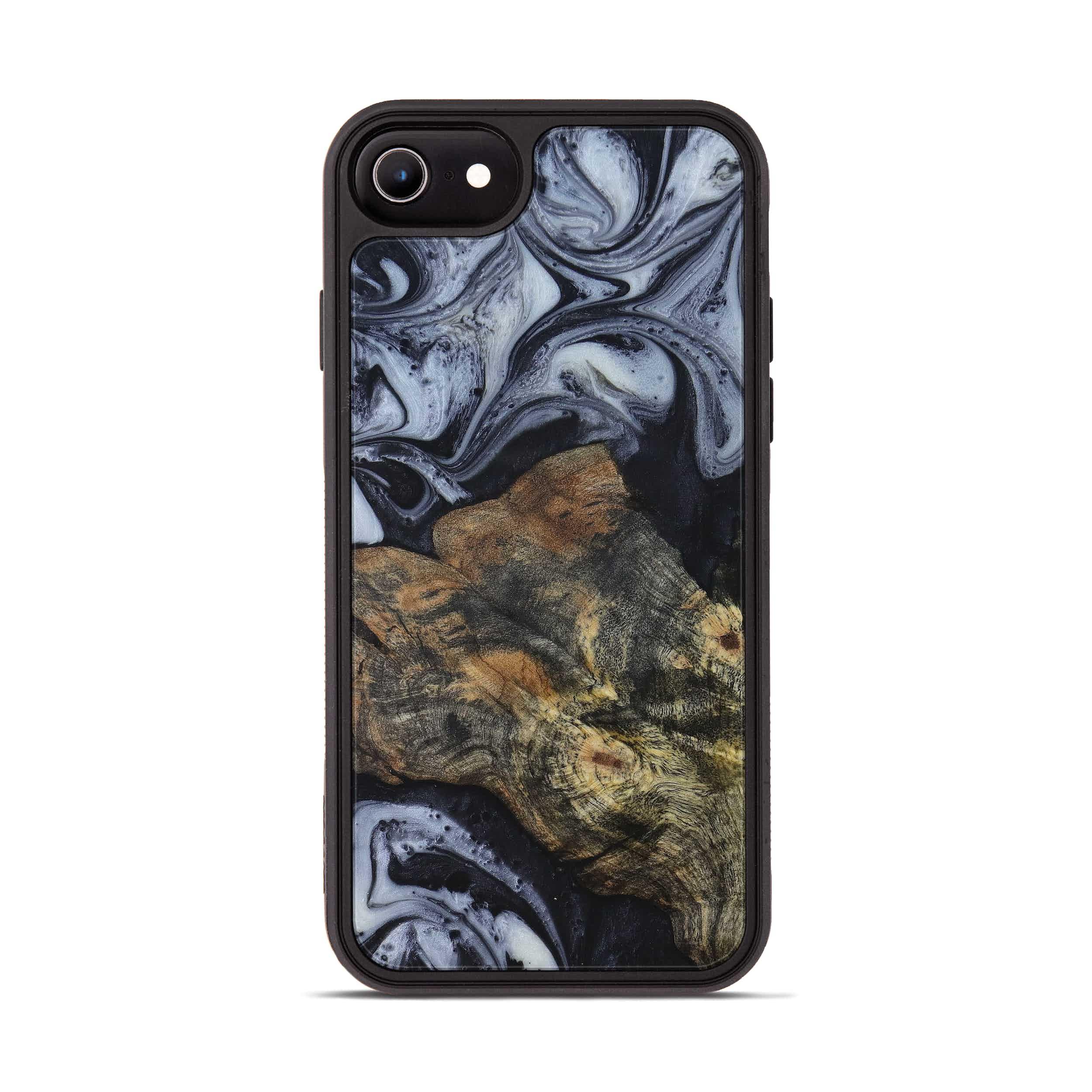 iPhone 6s Wood+Resin Phone Case - Radha (Black & White, 397921)