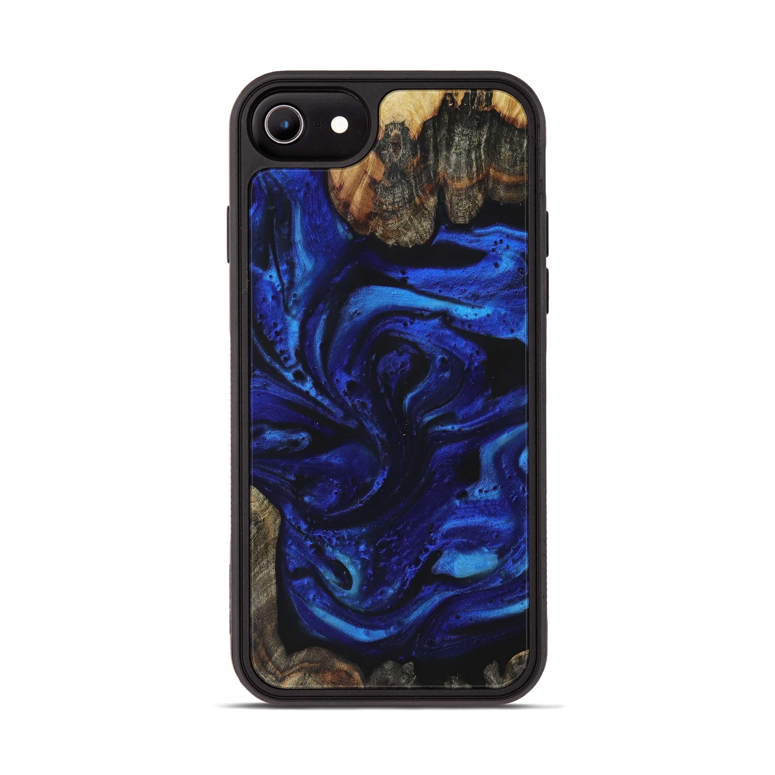 iPhone 7 Wood+Resin Phone Case - Tarrah (Dark Blue, 398824)