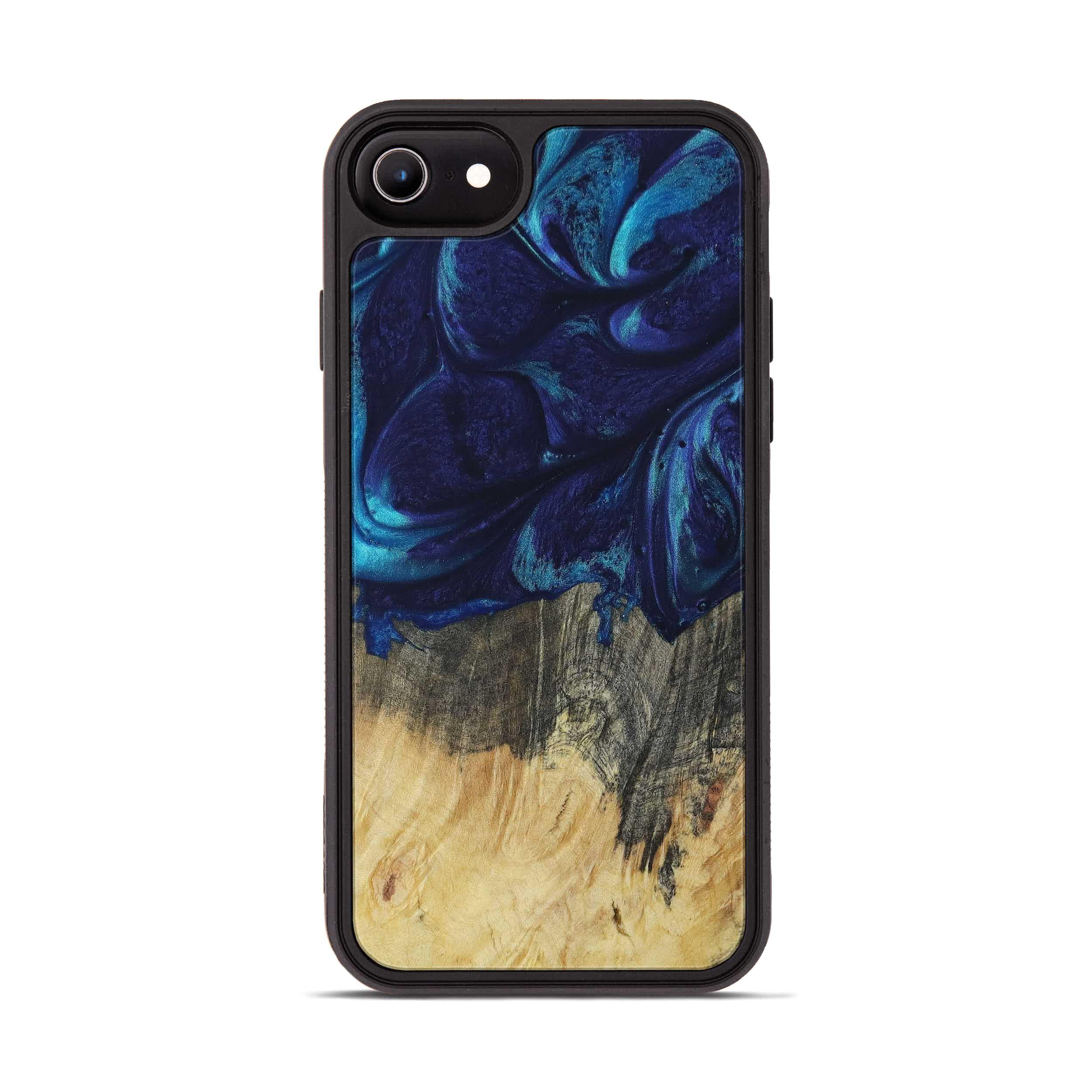 iPhone 7 Wood+Resin Phone Case - Laurie (Dark Blue, 399287)