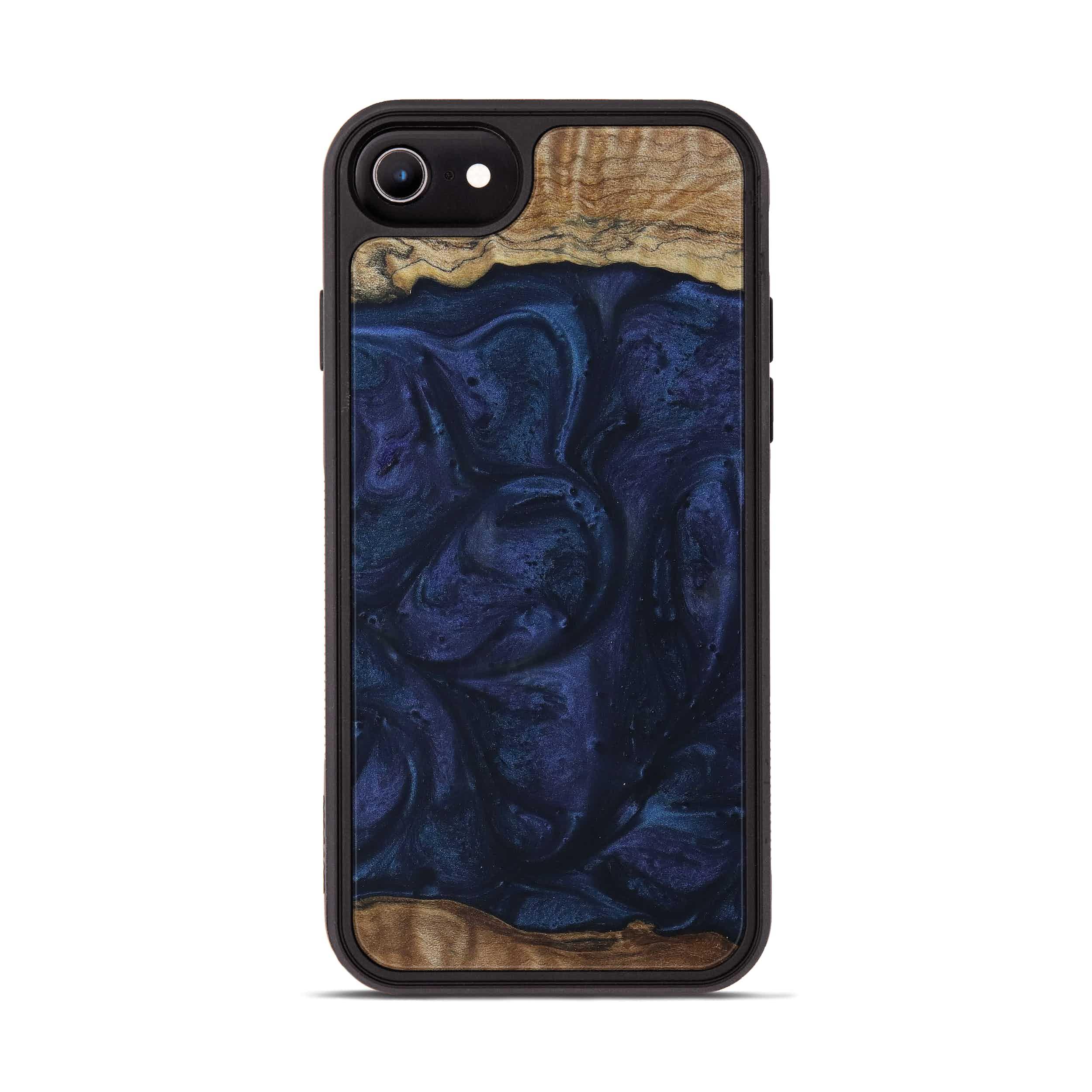 iPhone 7 Wood+Resin Phone Case - Xylia (Dark Blue, 399623)