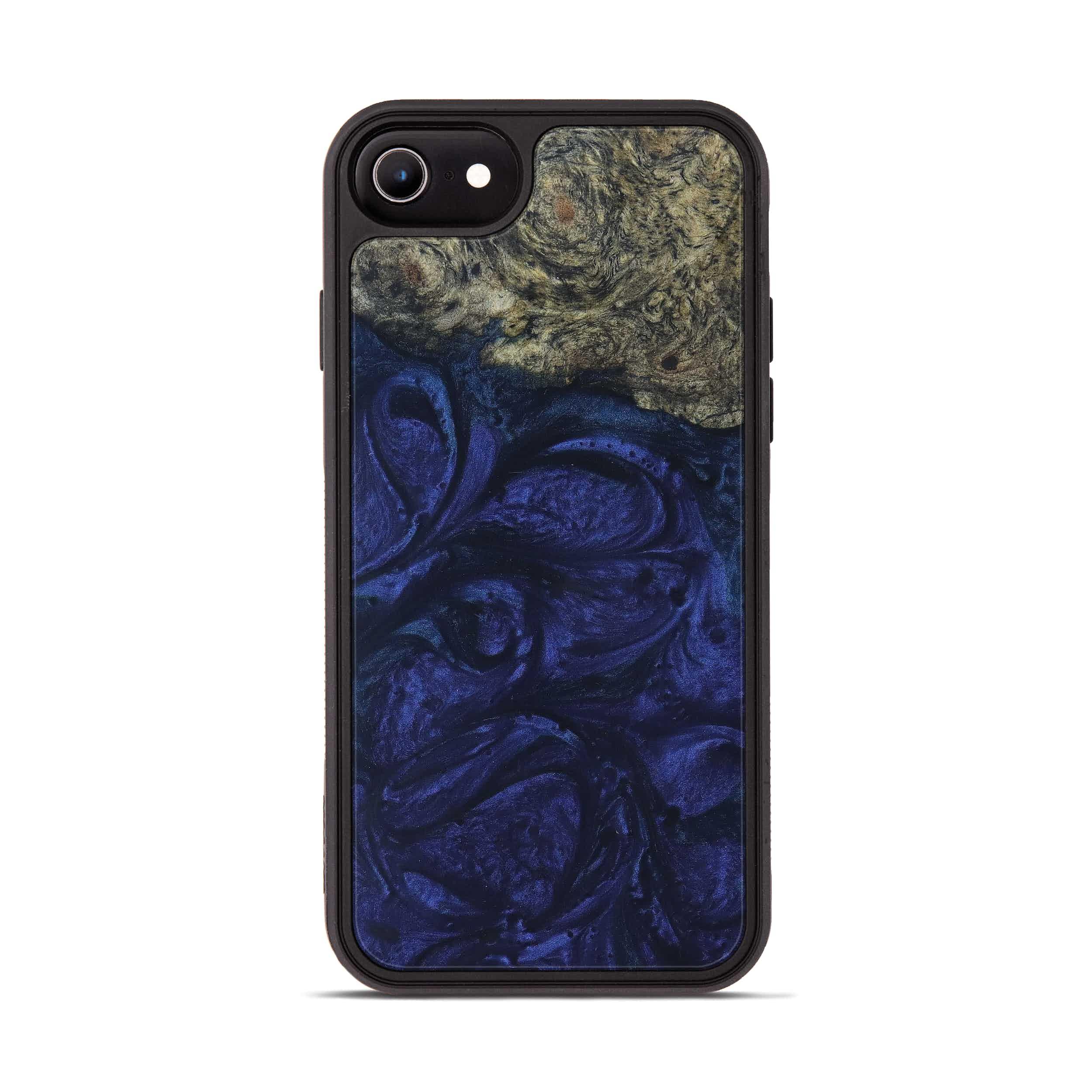 iPhone 7 Wood+Resin Phone Case - Nananne (Dark Blue, 399625)
