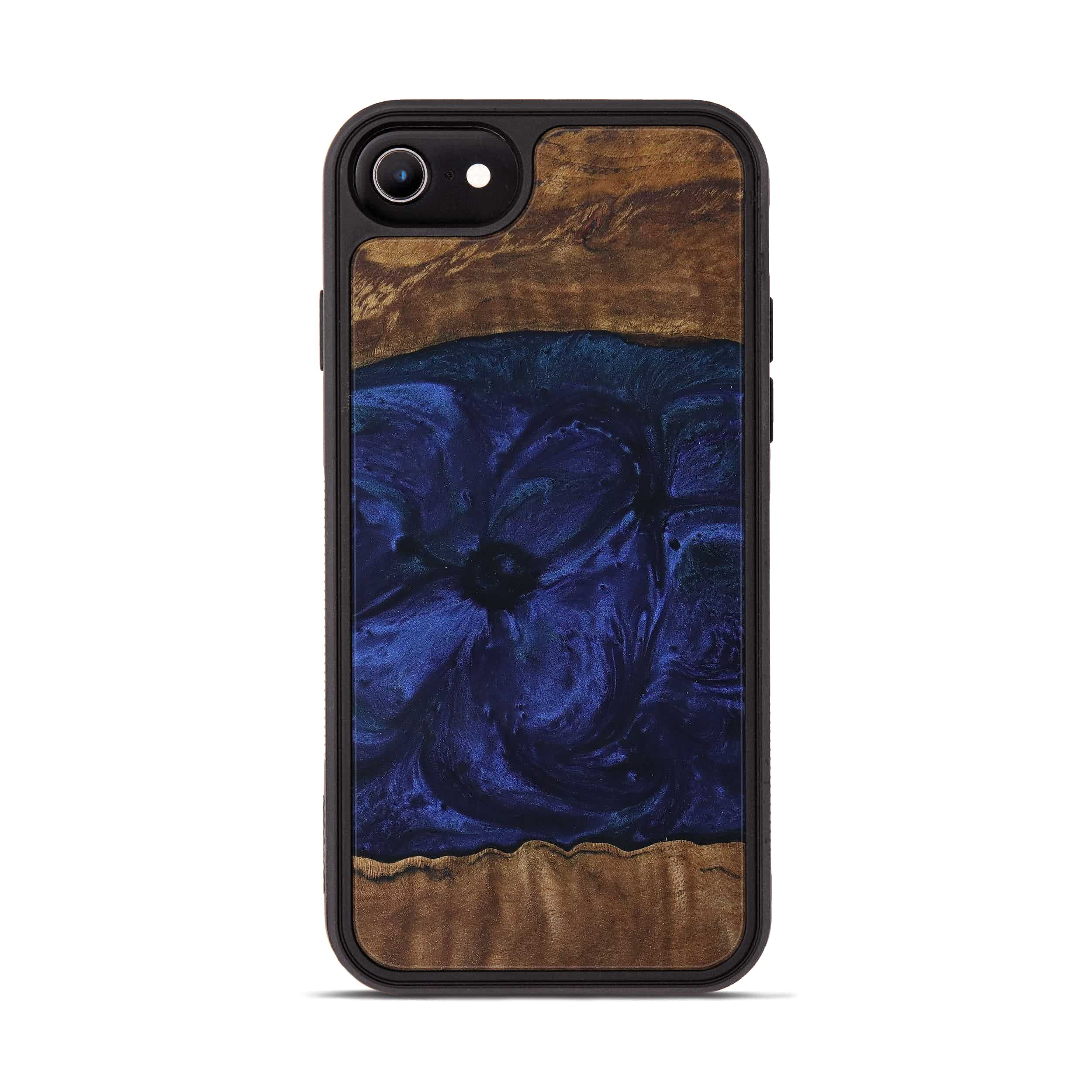 iPhone 7 Wood+Resin Phone Case - Neena (Dark Blue, 399631)