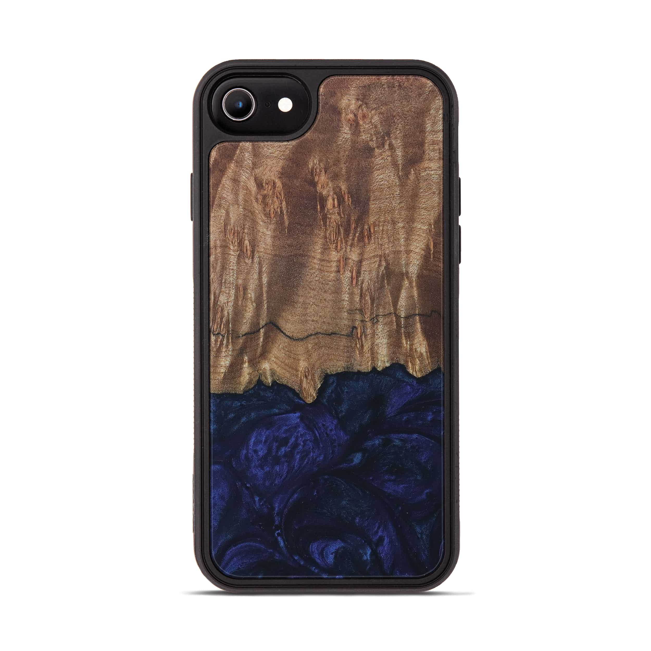 iPhone 7 Wood+Resin Phone Case - Caitrin (Dark Blue, 399636)