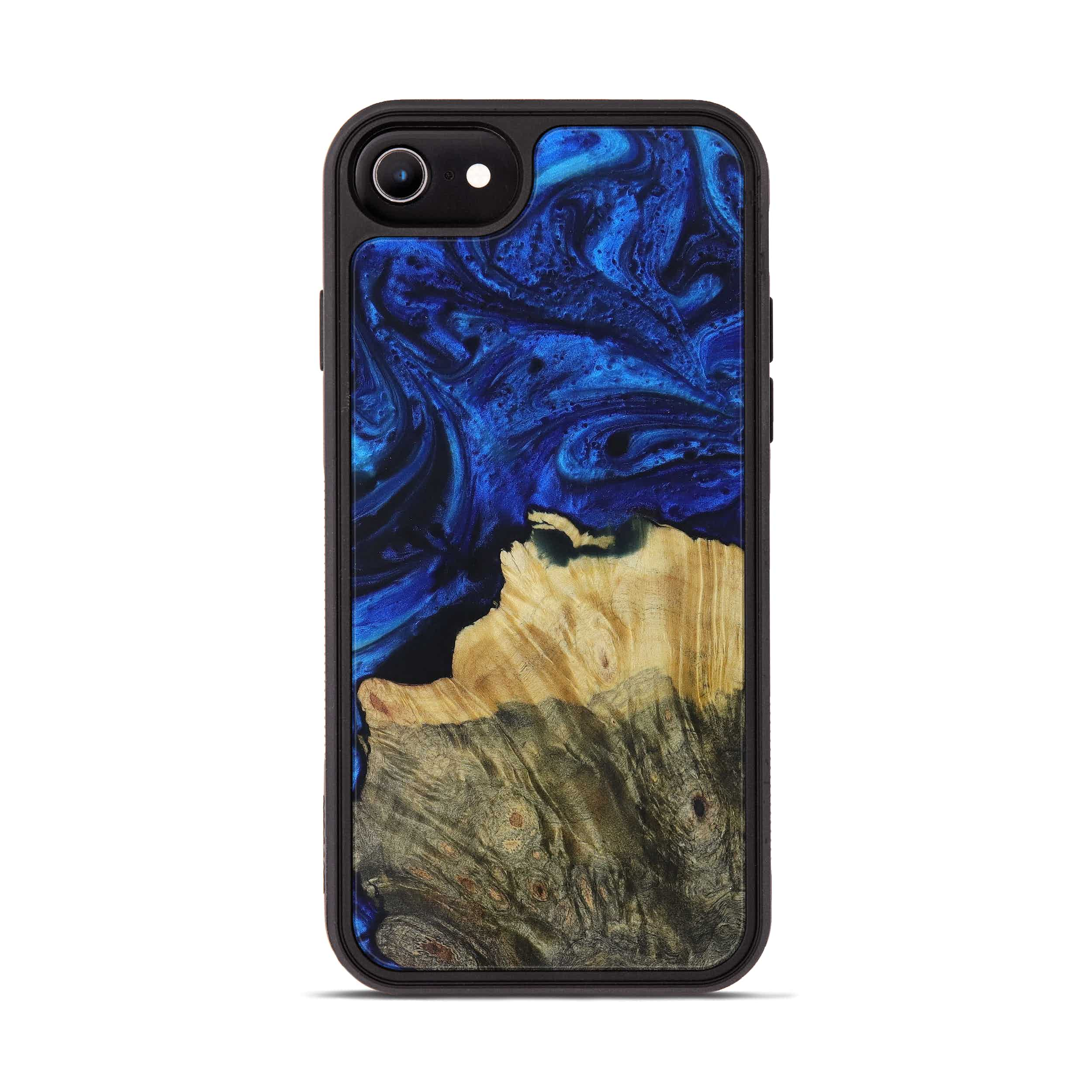 iPhone 7 Wood+Resin Phone Case - Luciano (Dark Blue, 399826)