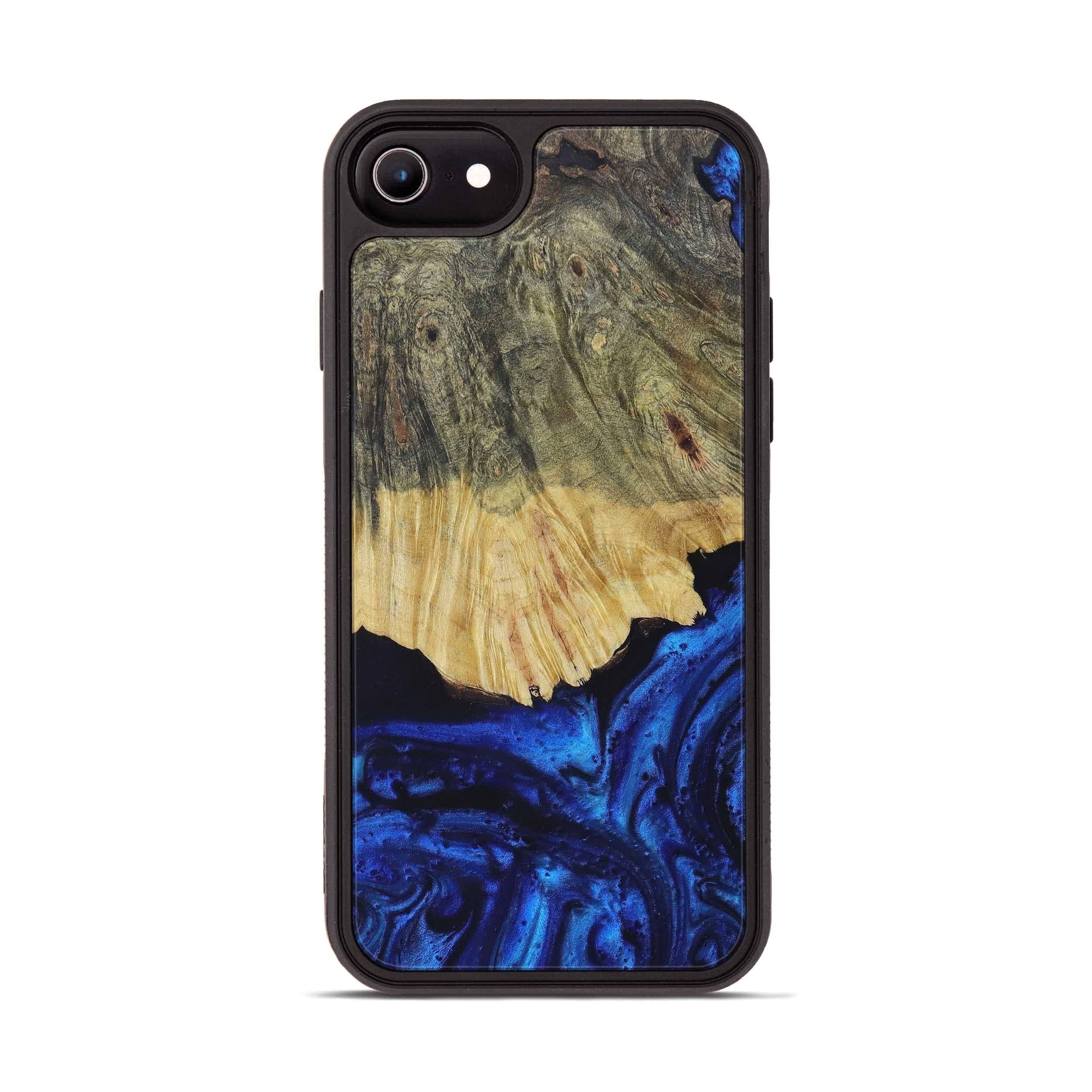 iPhone 7 Wood+Resin Phone Case - Hali (Dark Blue, 399832)
