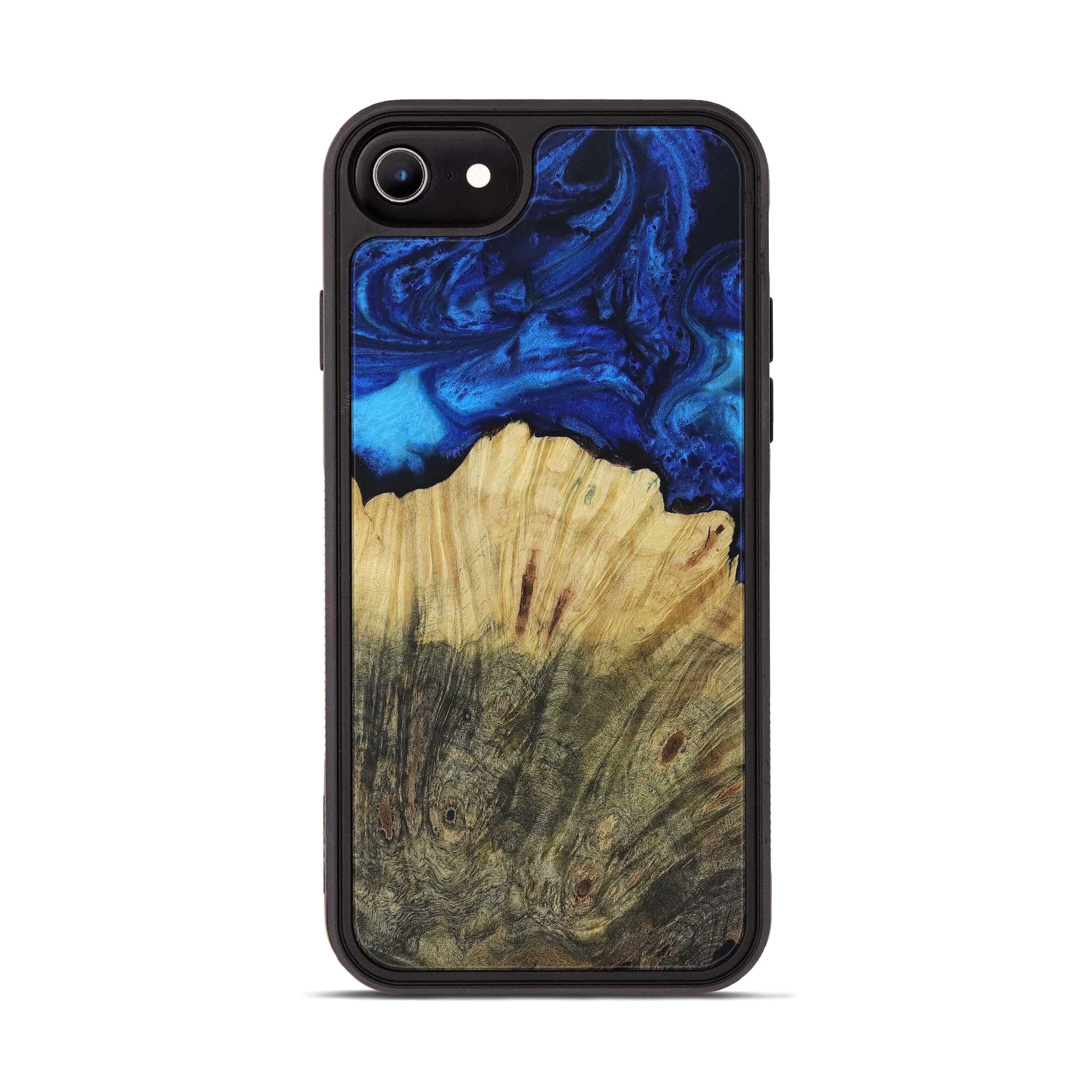 iPhone 7 Wood+Resin Phone Case - Bridie (Dark Blue, 399834)