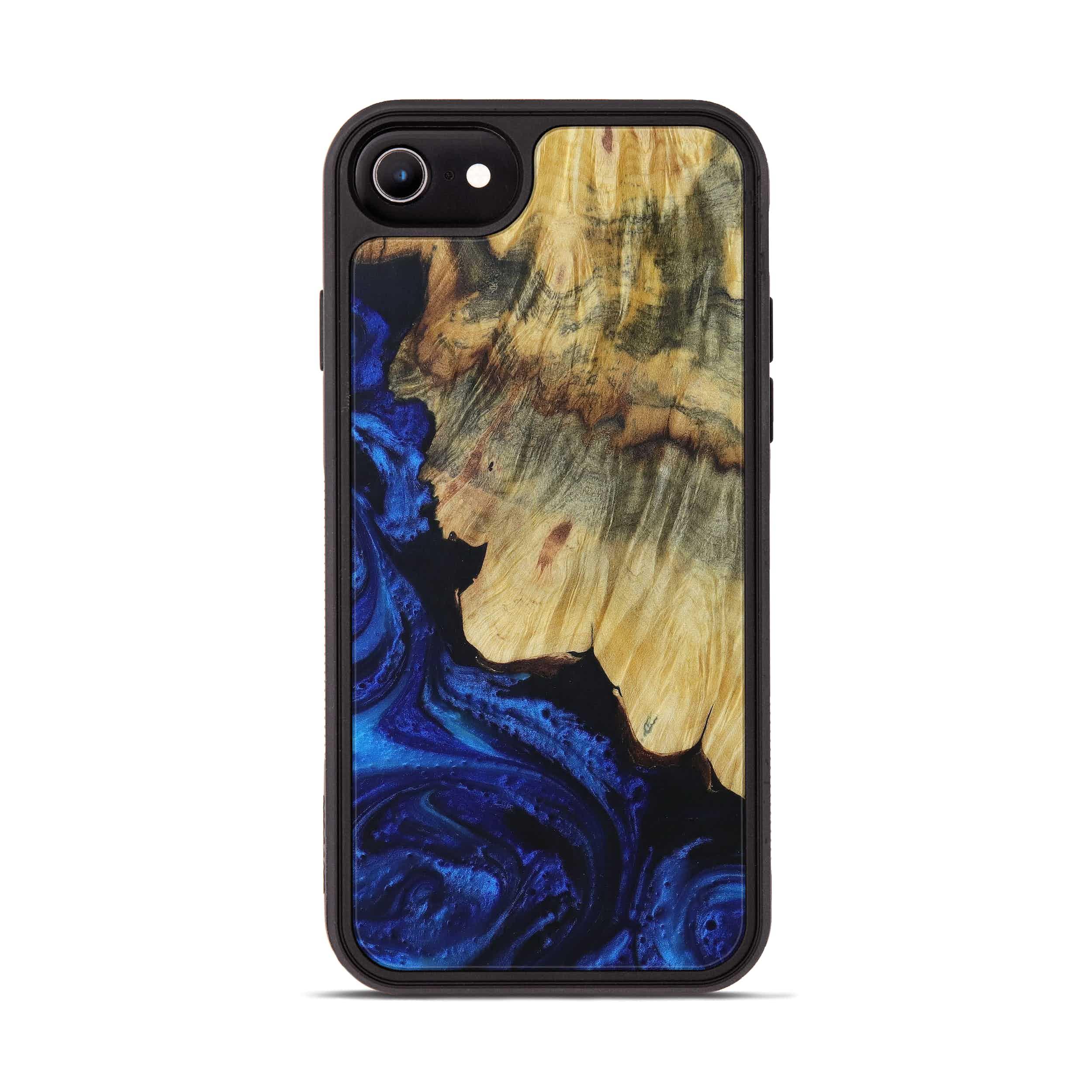 iPhone 7 Wood+Resin Phone Case - Wassim (Dark Blue, 399845)