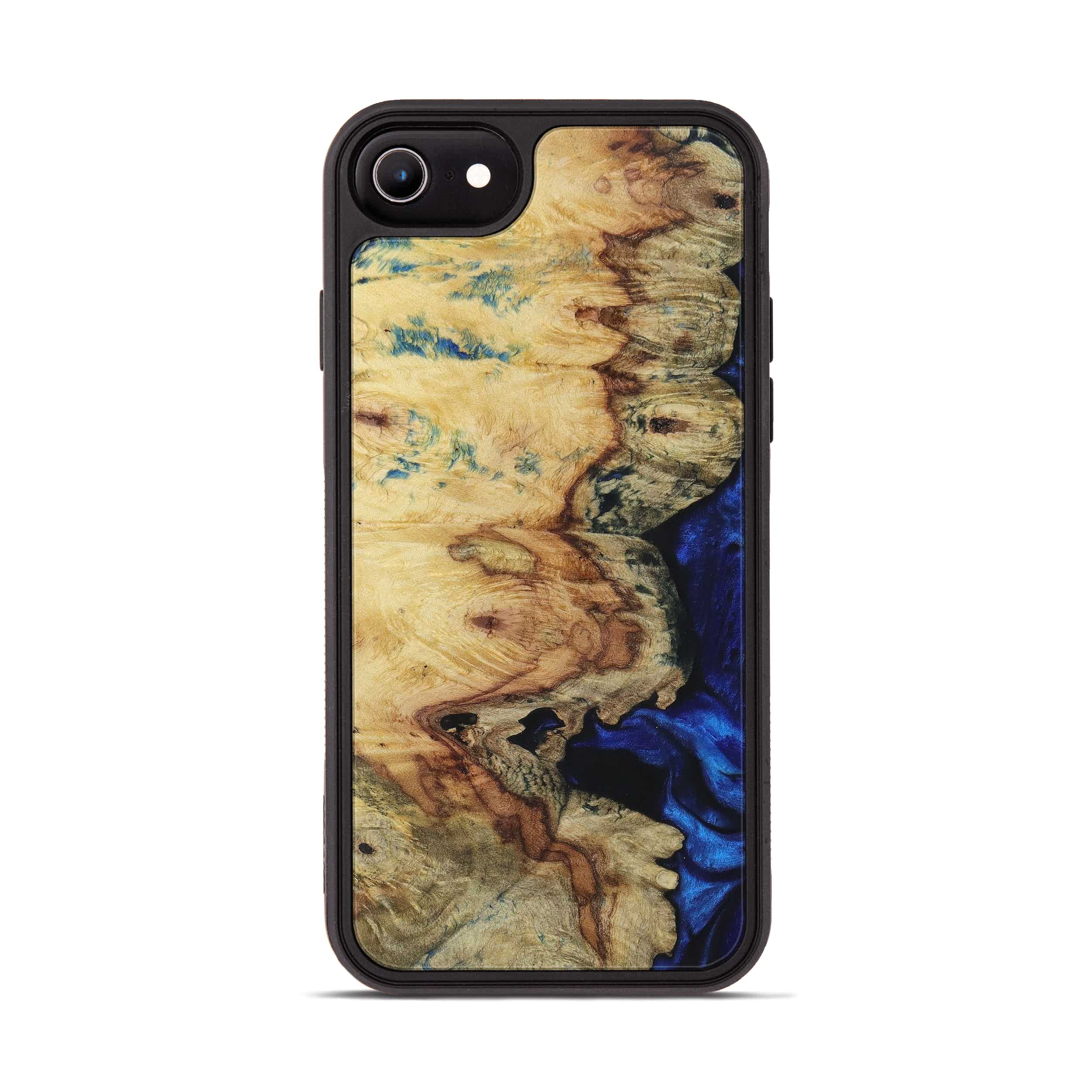 iPhone 7 Wood+Resin Phone Case - Ruchi (Dark Blue, 399846)