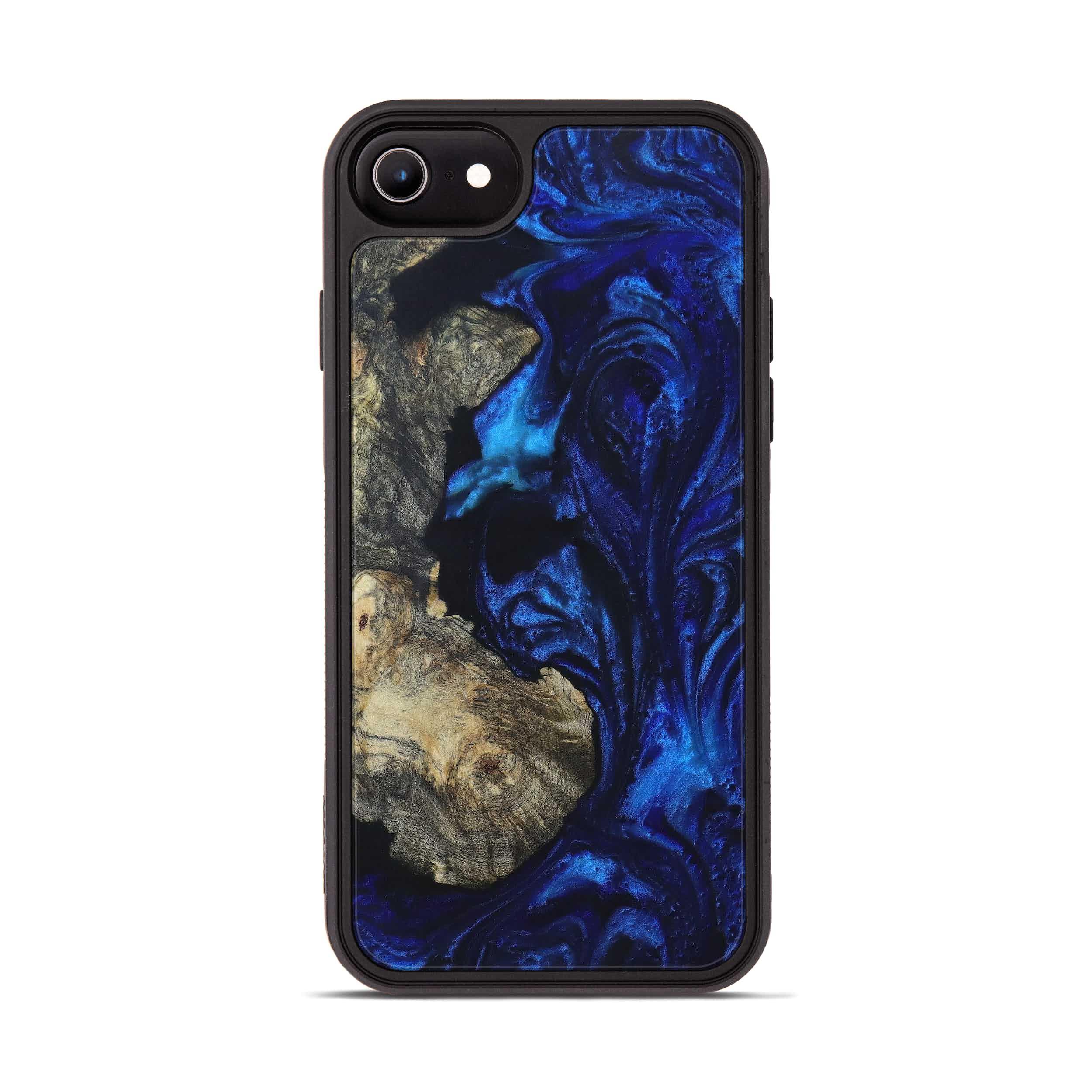 iPhone 7 Wood+Resin Phone Case - Karolina (Dark Blue, 399847)