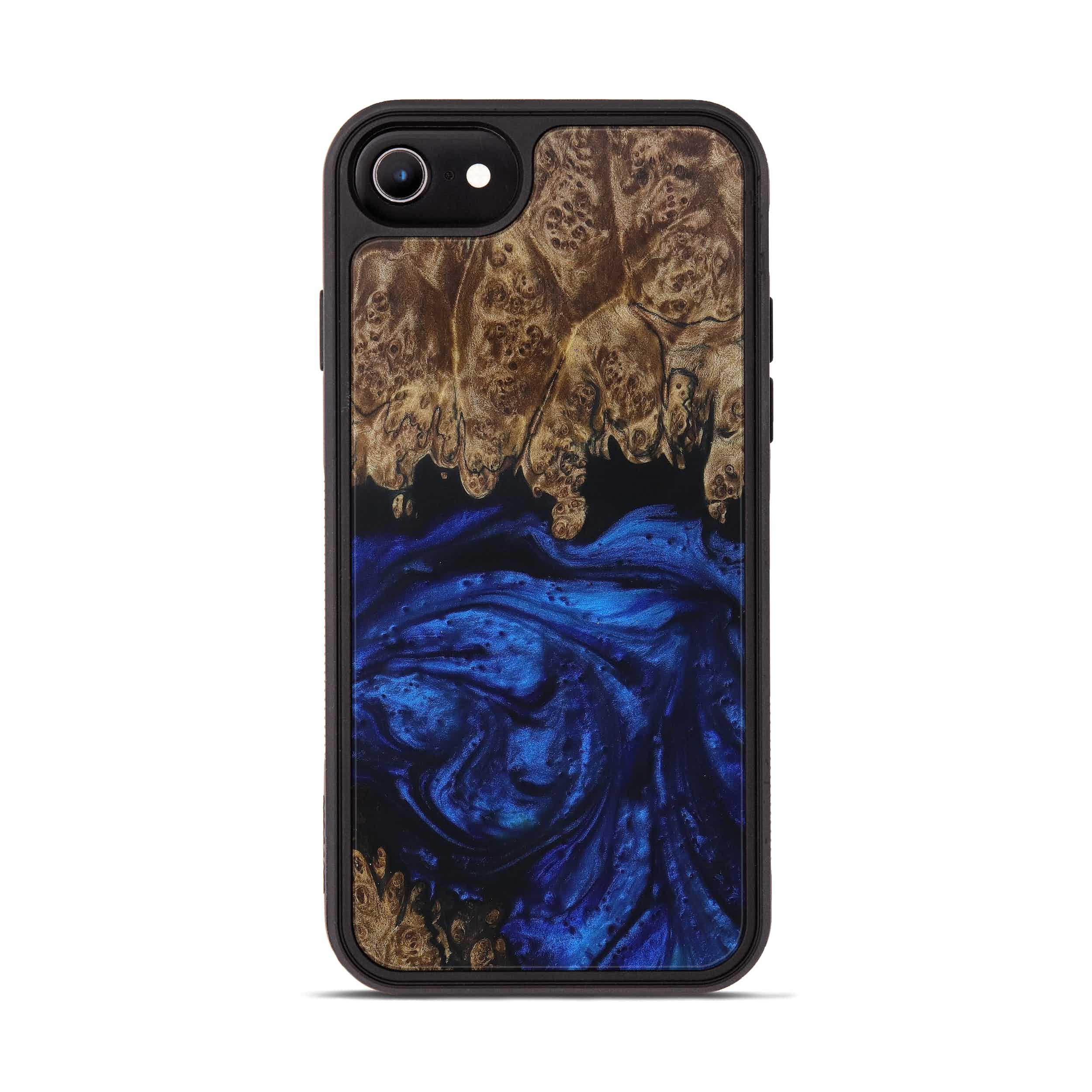 iPhone 7 Wood+Resin Phone Case - Shyoko (Dark Blue, 399849)
