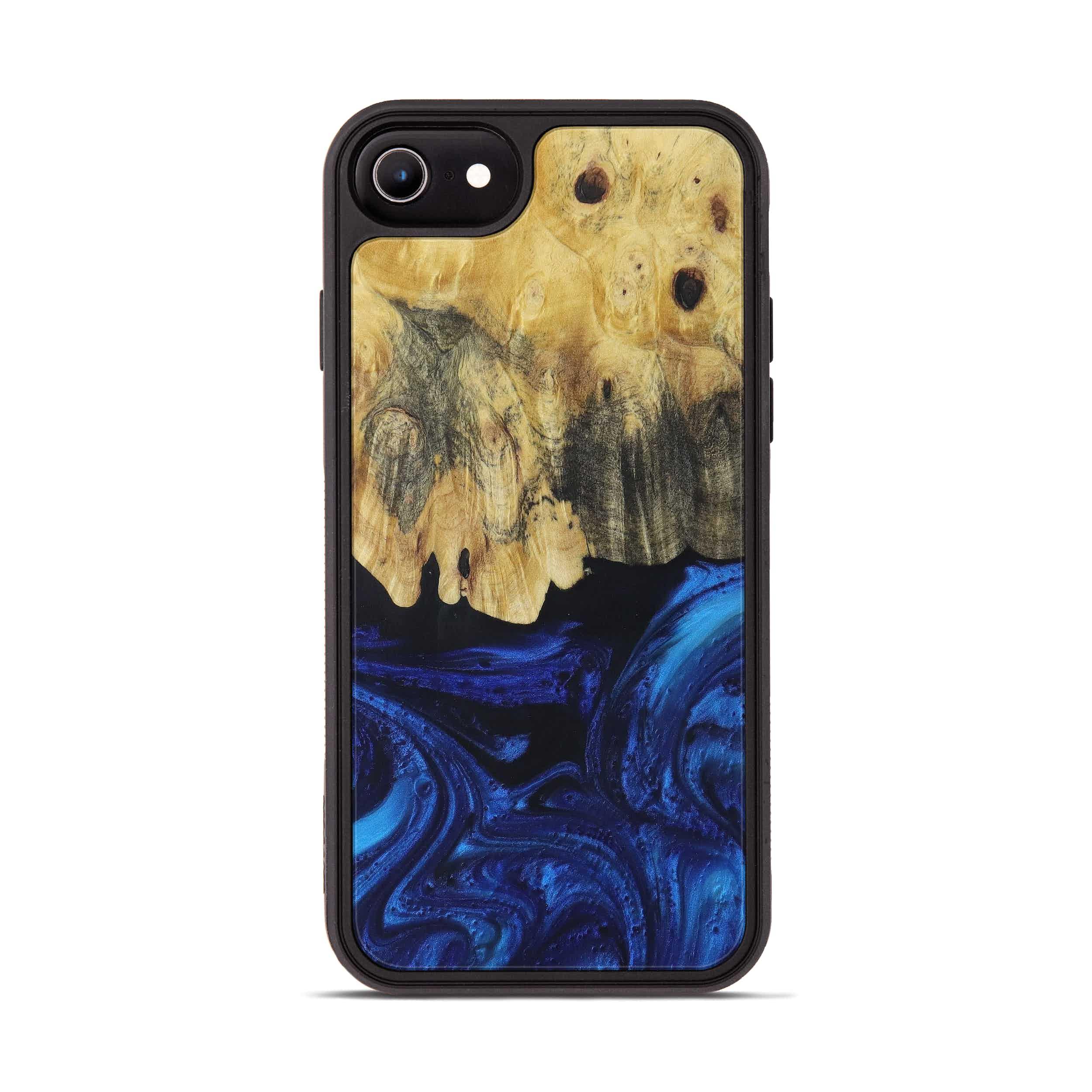iPhone 7 Wood+Resin Phone Case - Colene (Dark Blue, 399851)