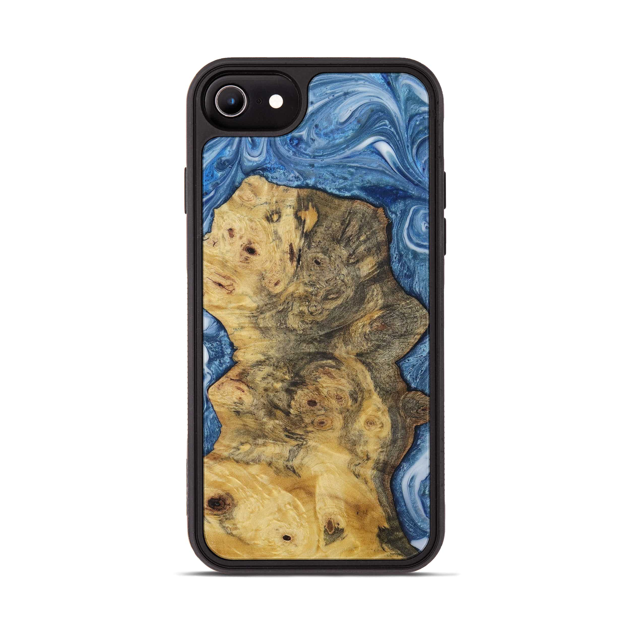 iPhone 7 Wood+Resin Phone Case - Gladys (Light Blue, 400173)