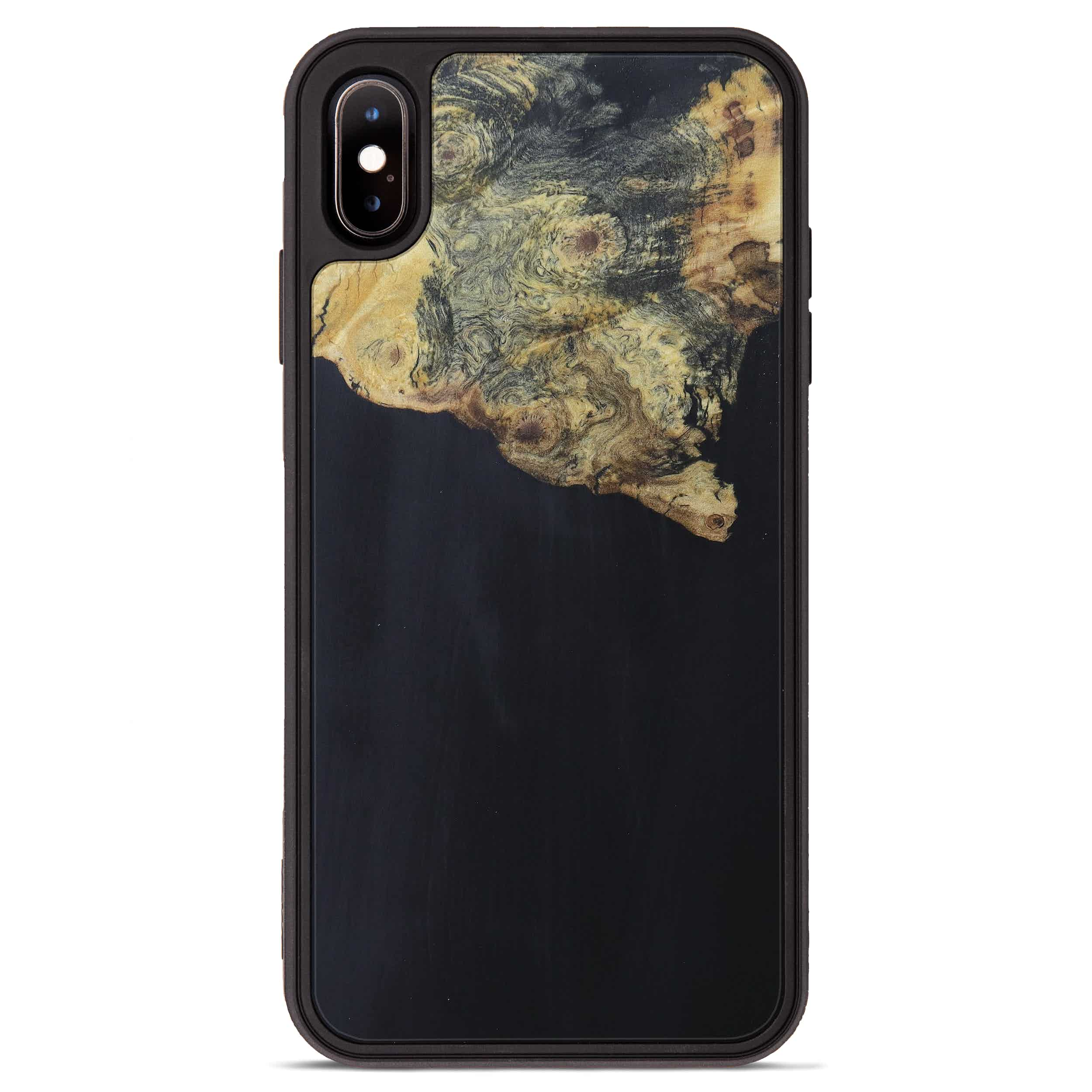 iPhone Xs Max Wood+Resin Phone Case - Arabel (Pure Black, 394228)