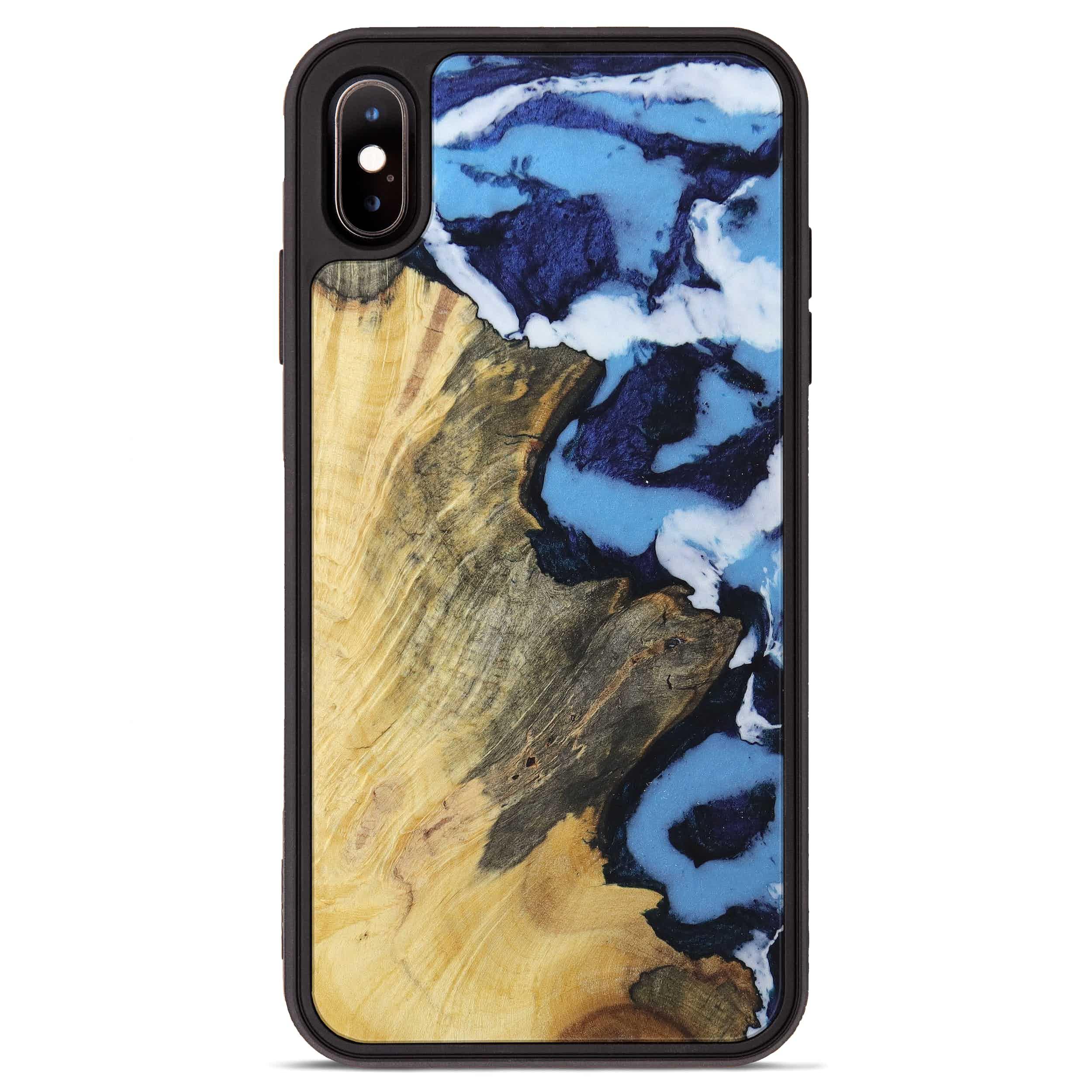iPhone Xs Max Wood+Resin Phone Case - Ram (Dark Blue, 394640)