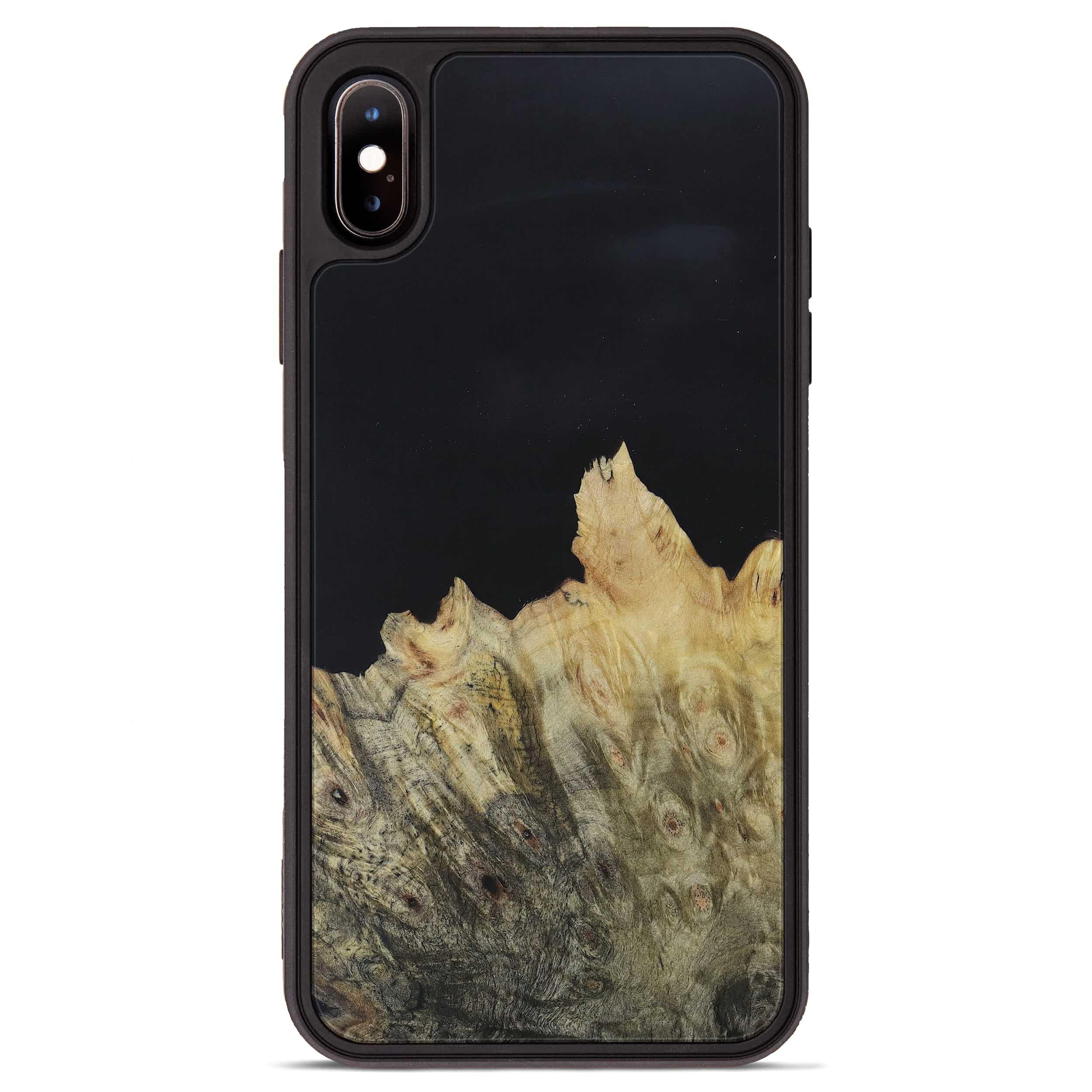 iPhone Xs Max Wood+Resin Phone Case - Sherwyn (Pure Black, 395893)