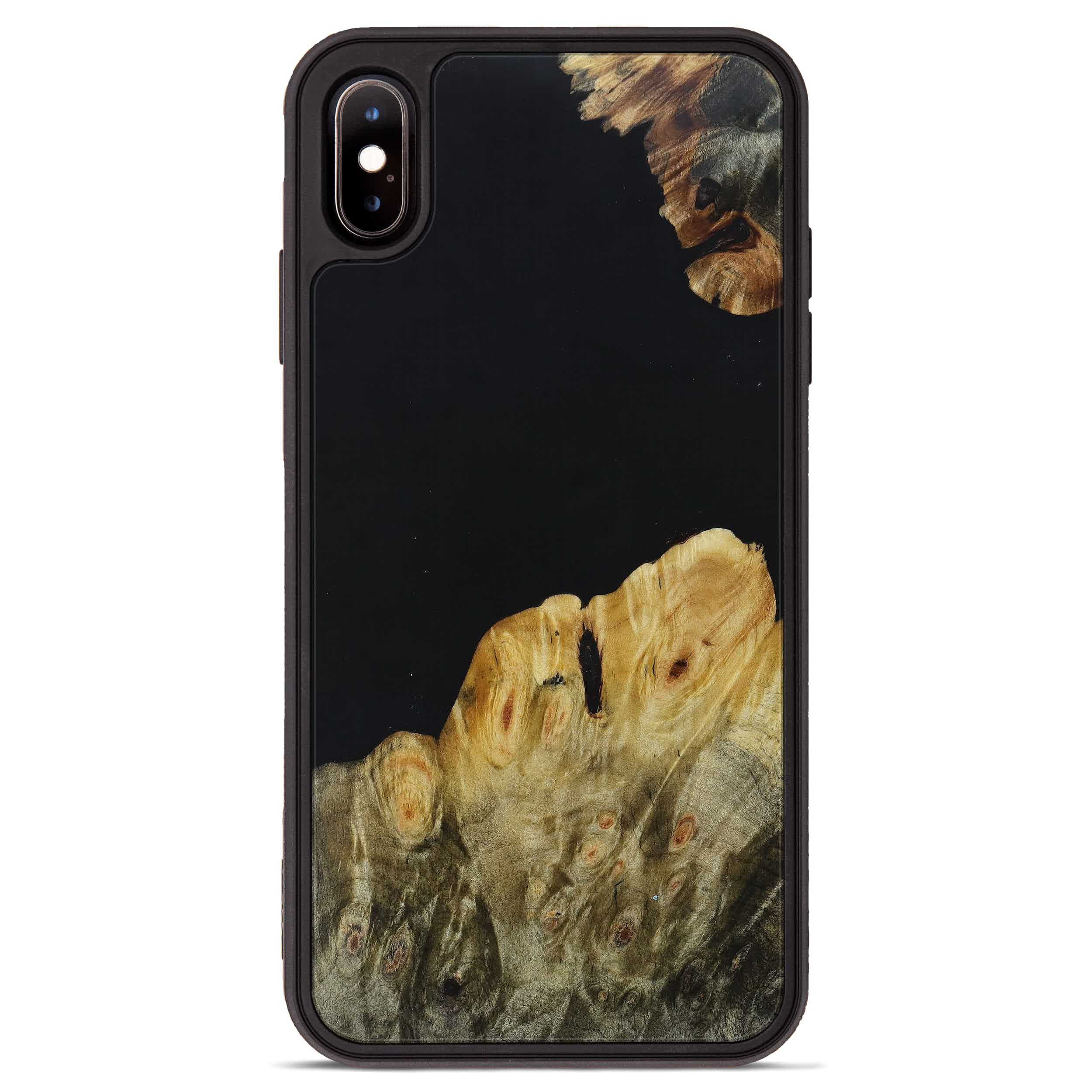 iPhone Xs Max Wood+Resin Phone Case - Evert (Pure Black, 395899)