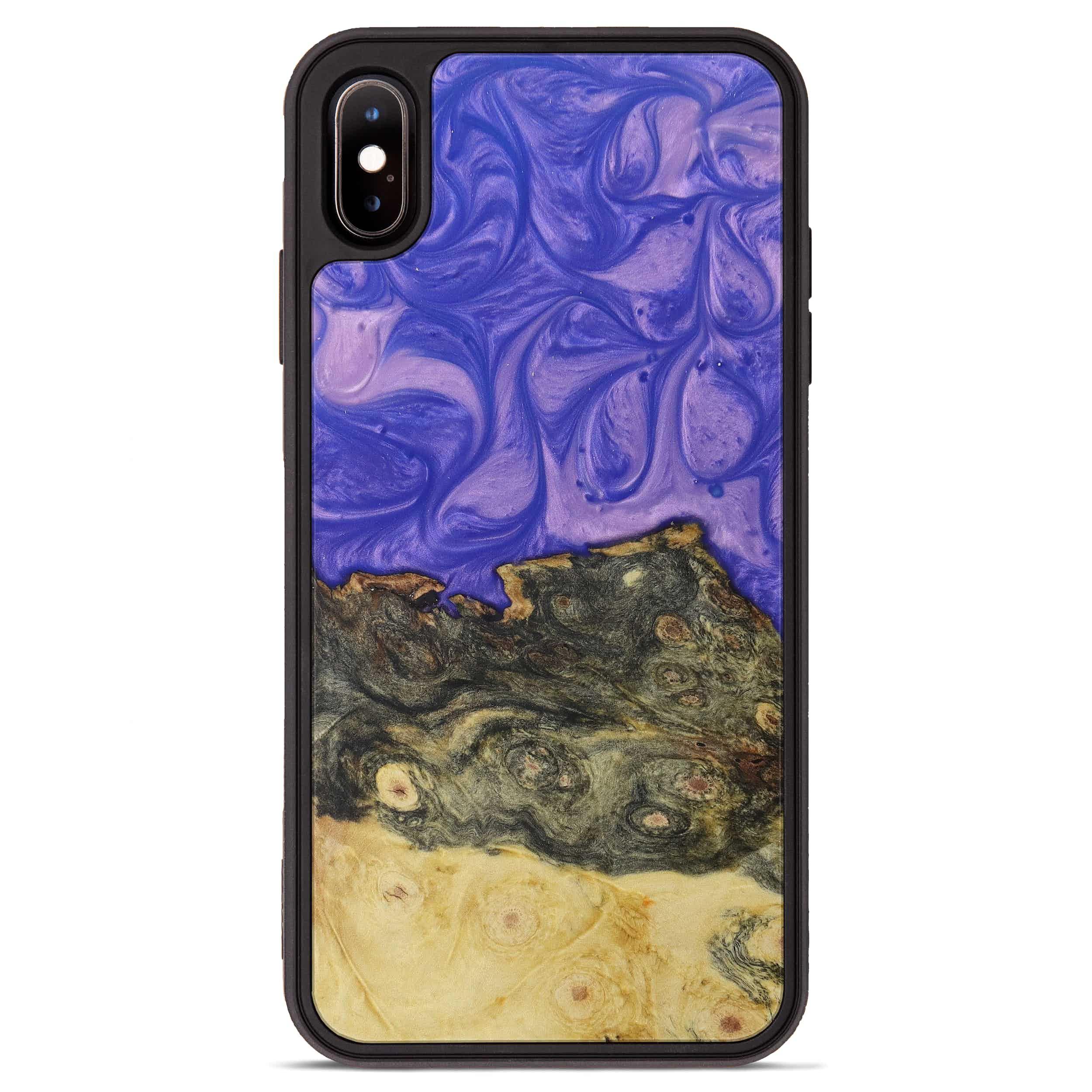 iPhone Xs Max Wood+Resin Phone Case - Suha (Purple, 395901)