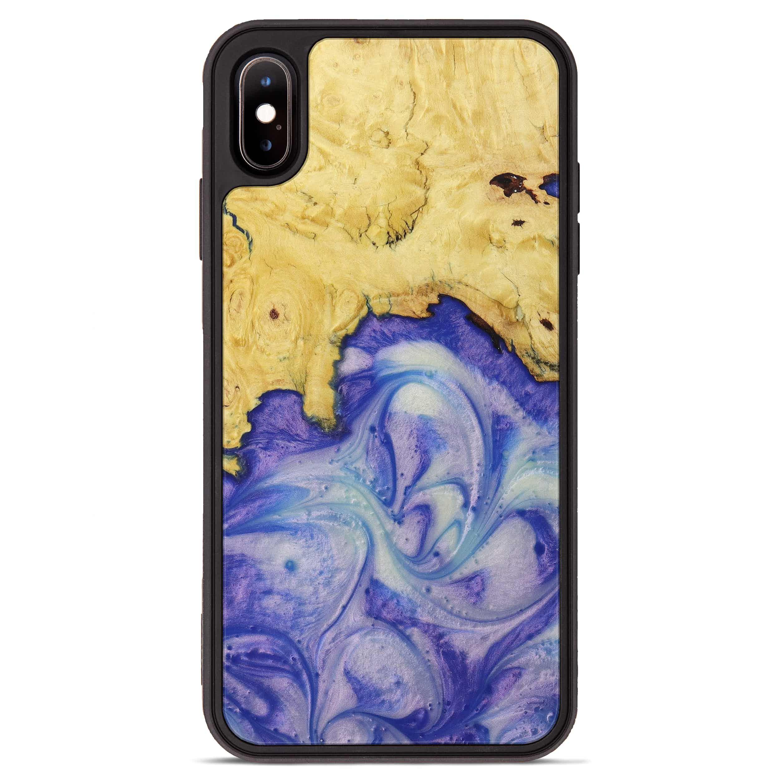 iPhone Xs Max Wood+Resin Phone Case - Harish (Purple, 395904)