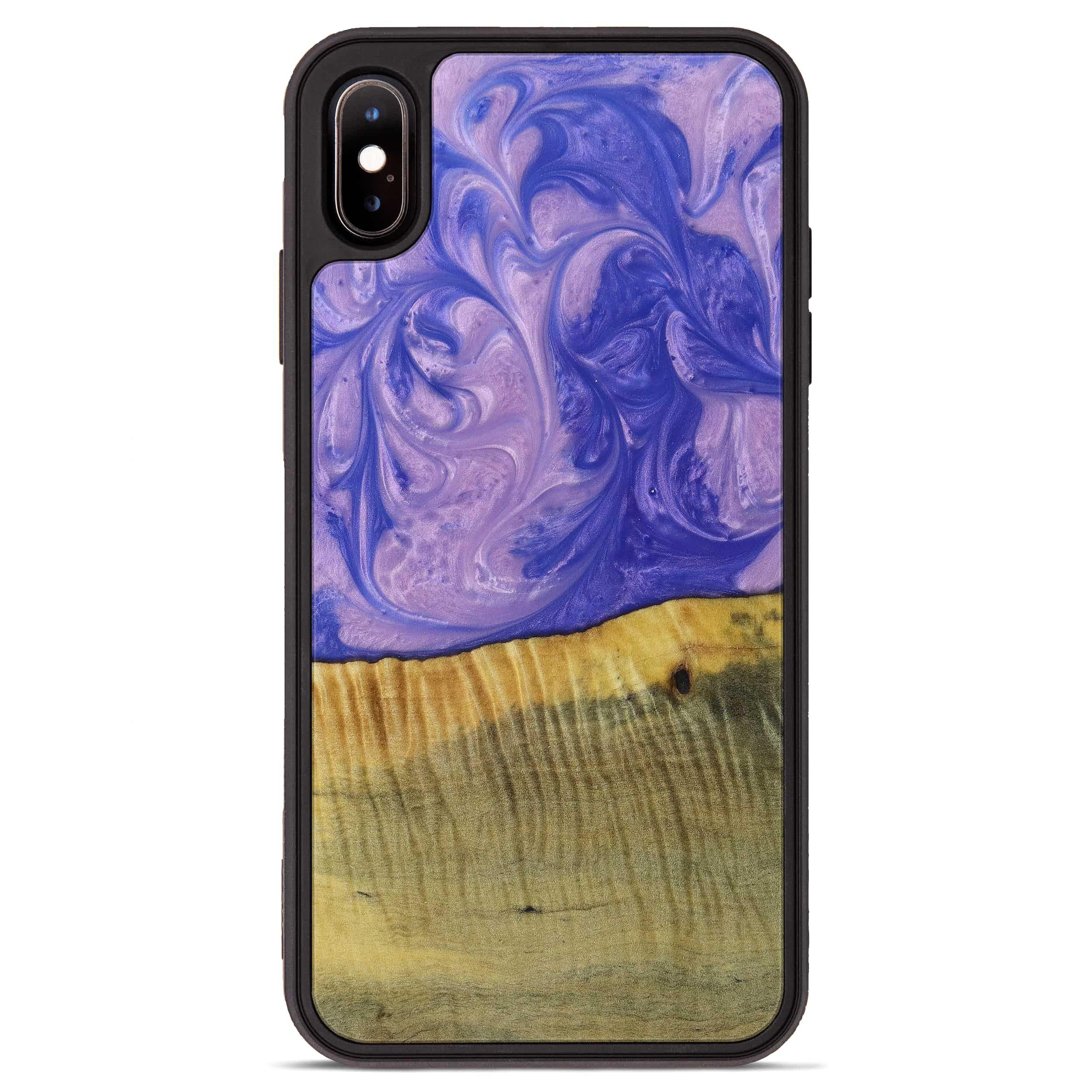 iPhone Xs Max Wood+Resin Phone Case - Samuel (Purple, 395905)