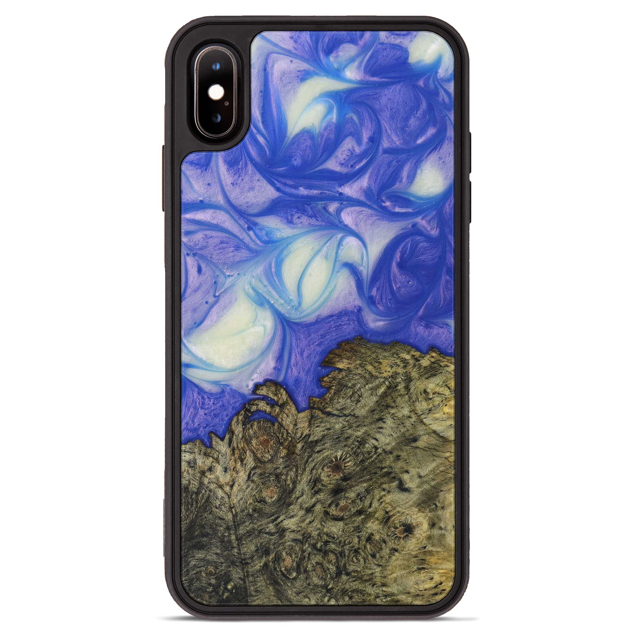 iPhone Xs Max Wood+Resin Phone Case - Yvonne (Purple, 395906)