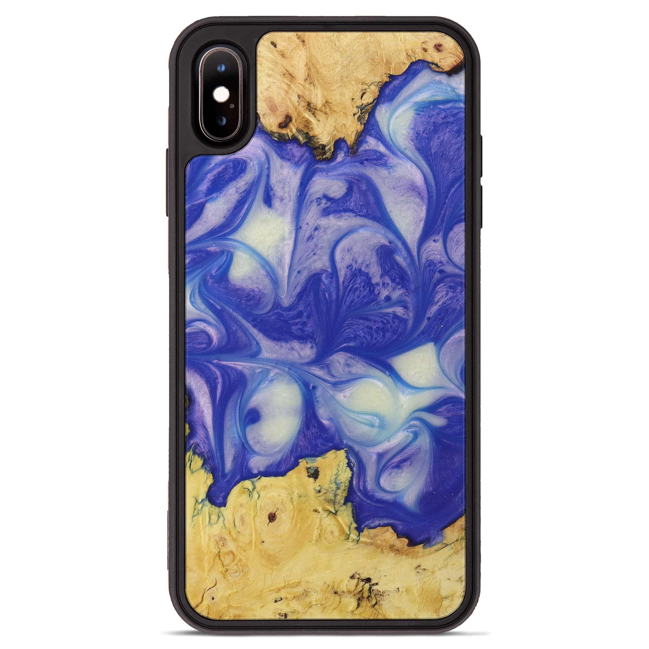 iPhone Xs Max Wood+Resin Phone Case - Subhash (Purple, 395907)
