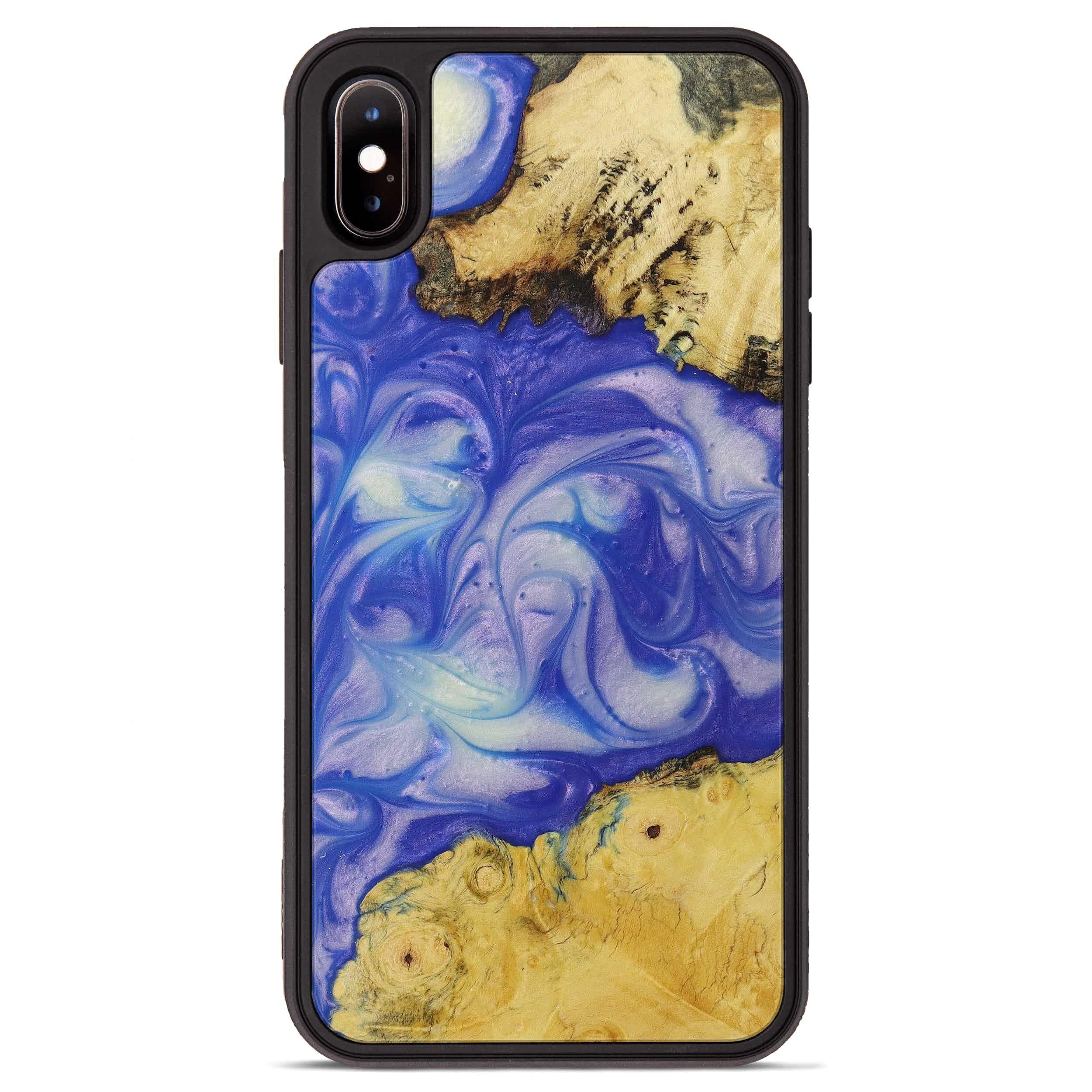 iPhone Xs Max Wood+Resin Phone Case - Bret (Purple, 395908)
