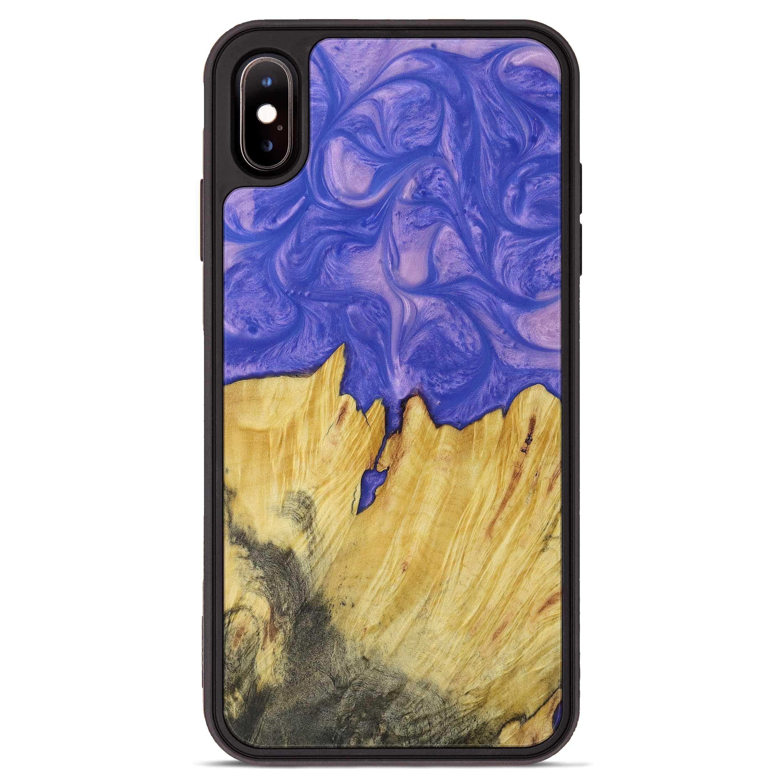 iPhone Xs Max Wood+Resin Phone Case - Hui (Purple, 395910)