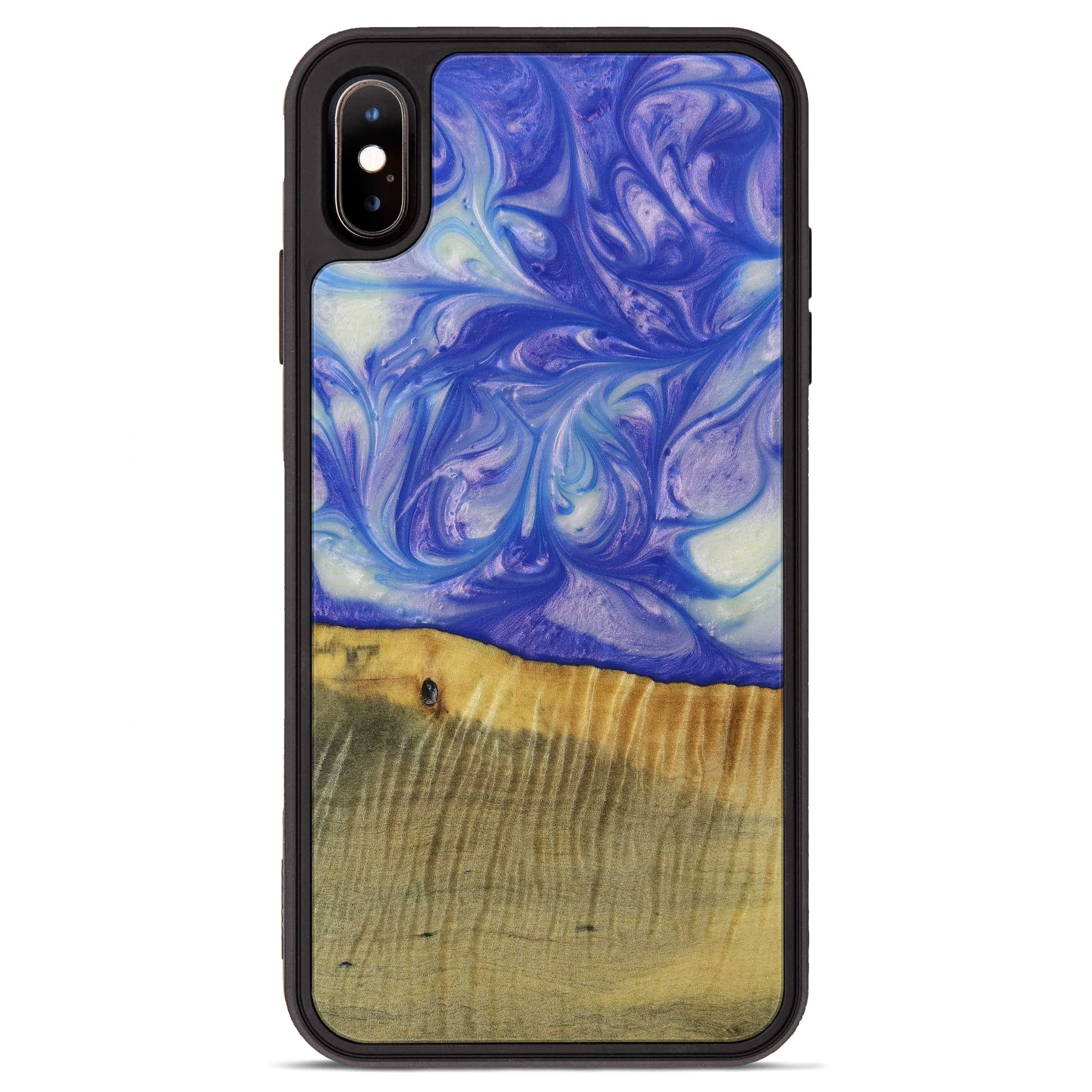 iPhone Xs Max Wood+Resin Phone Case - Fscocos (Purple, 395911)