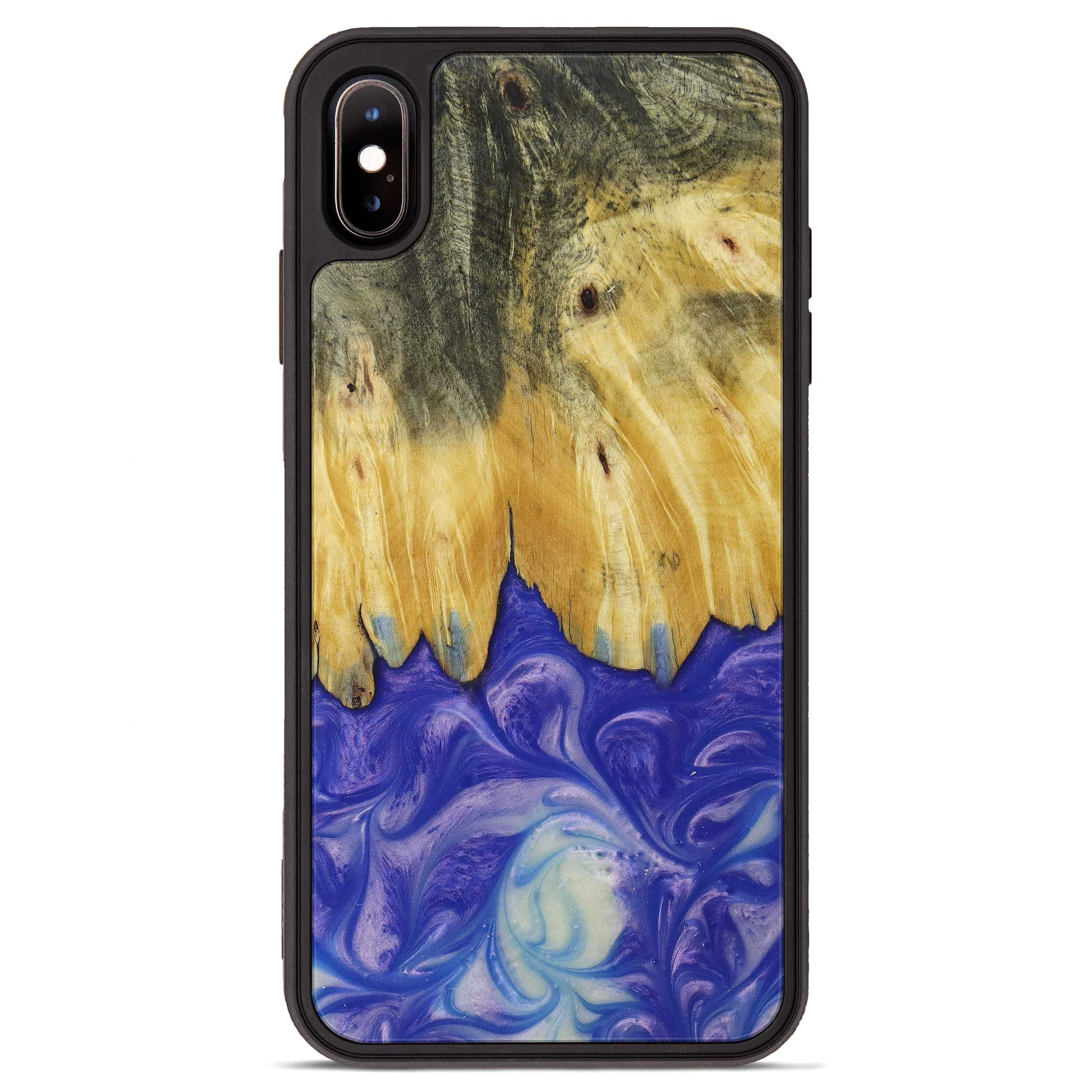 iPhone Xs Max Wood+Resin Phone Case - Hpone (Purple, 395914)