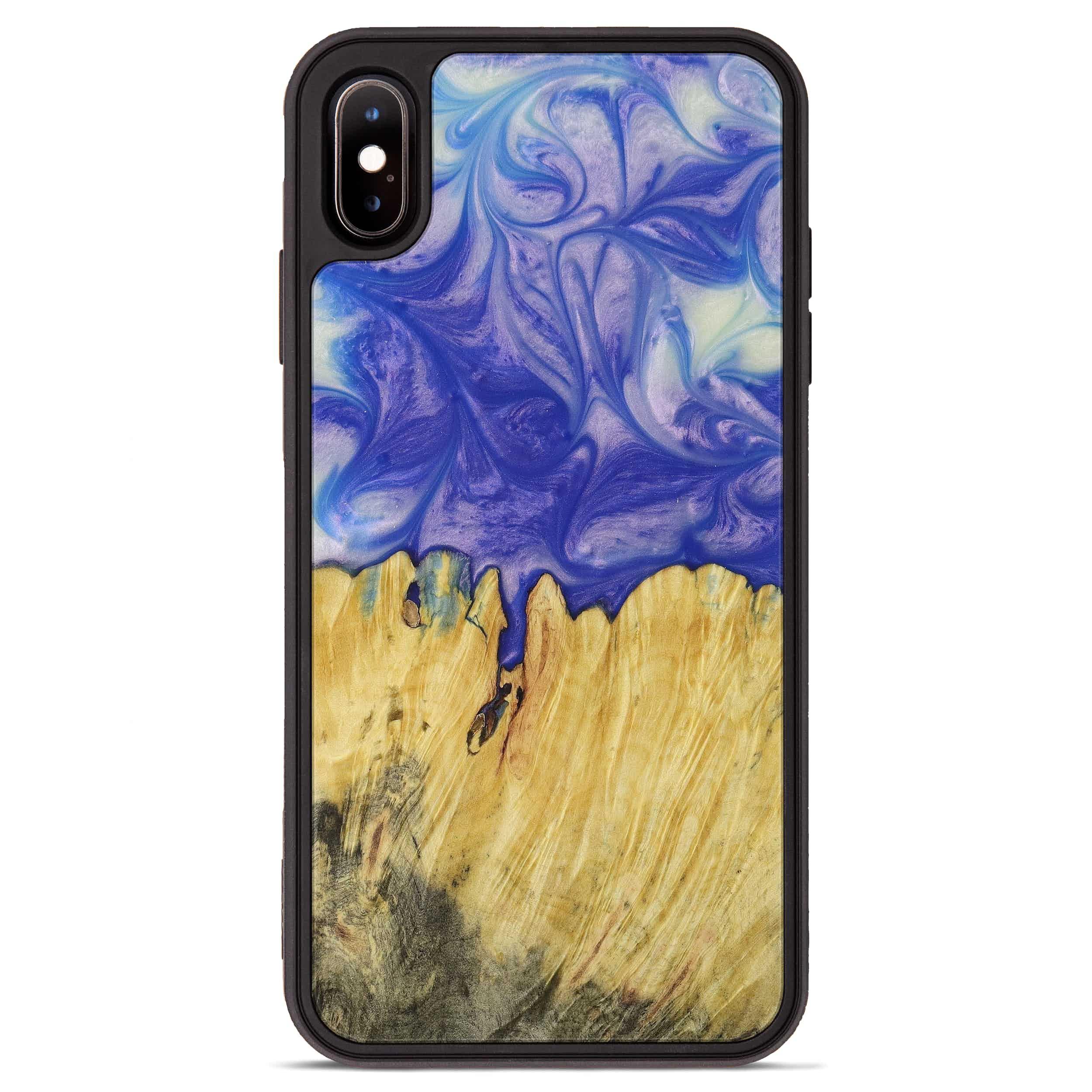 iPhone Xs Max Wood+Resin Phone Case - Advance (Purple, 395915)